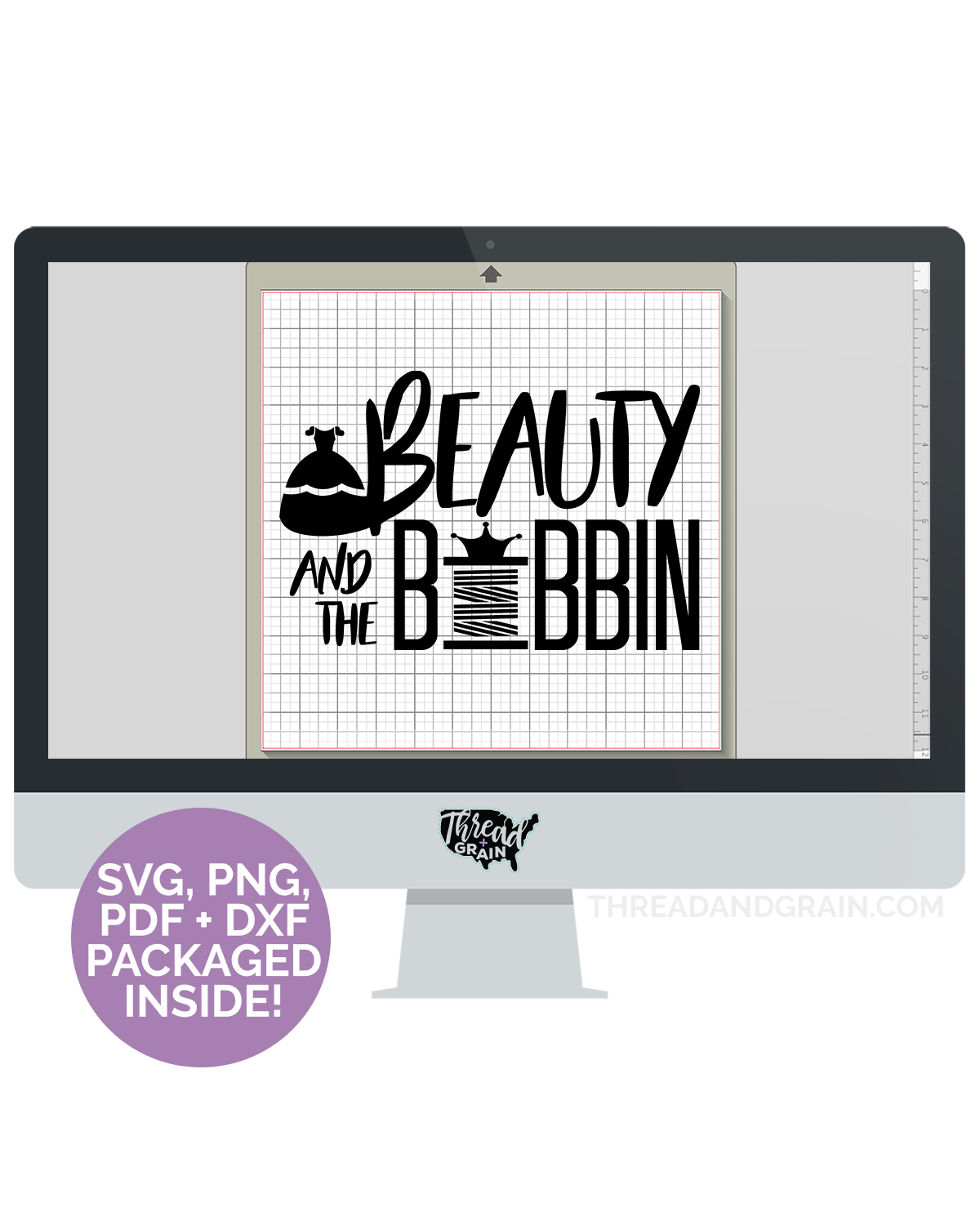 Beauty and the Bobbin DIGITAL CUT FILE