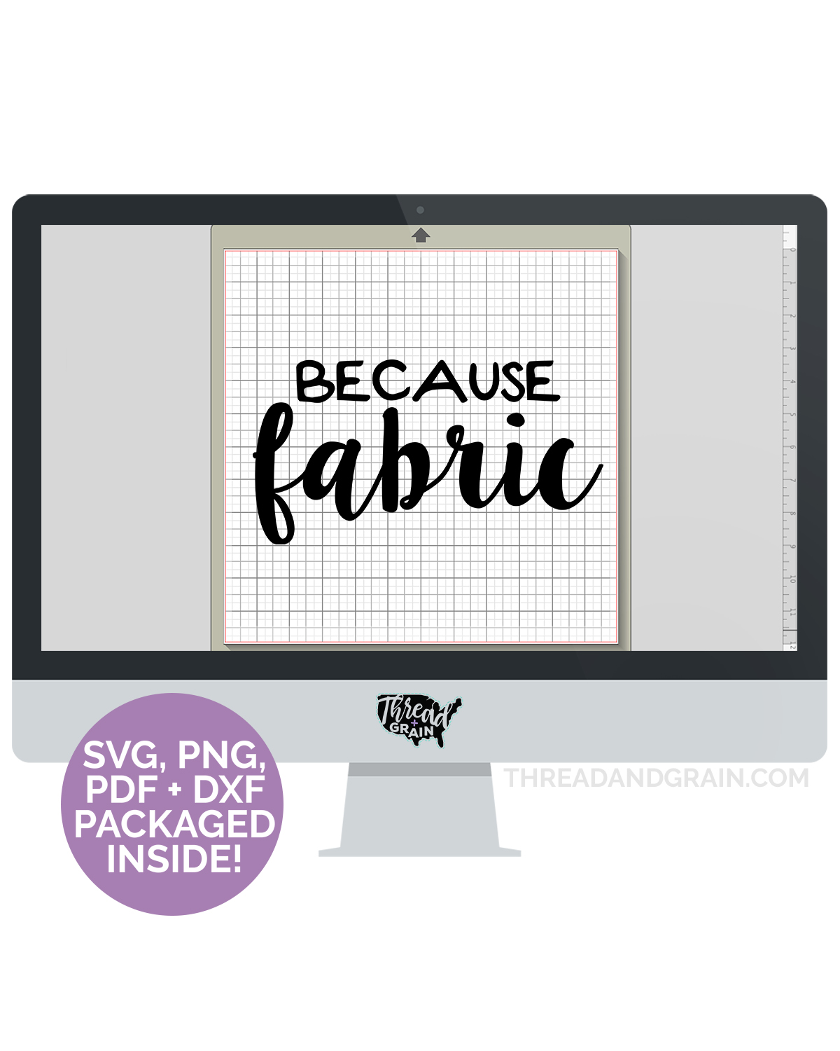Because Fabric DIGITAL CUT FILE