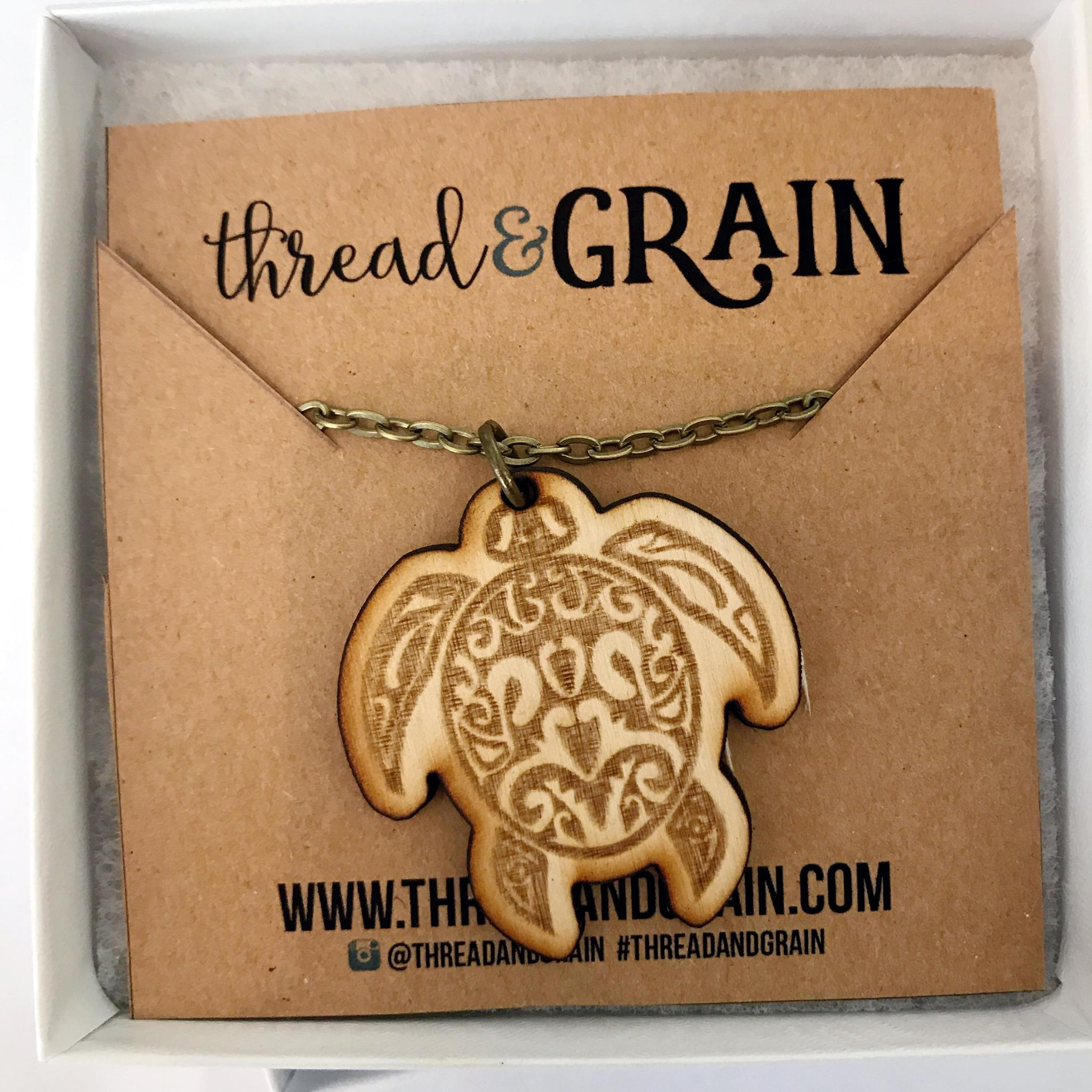 Turtle WOODEN NECKLACE