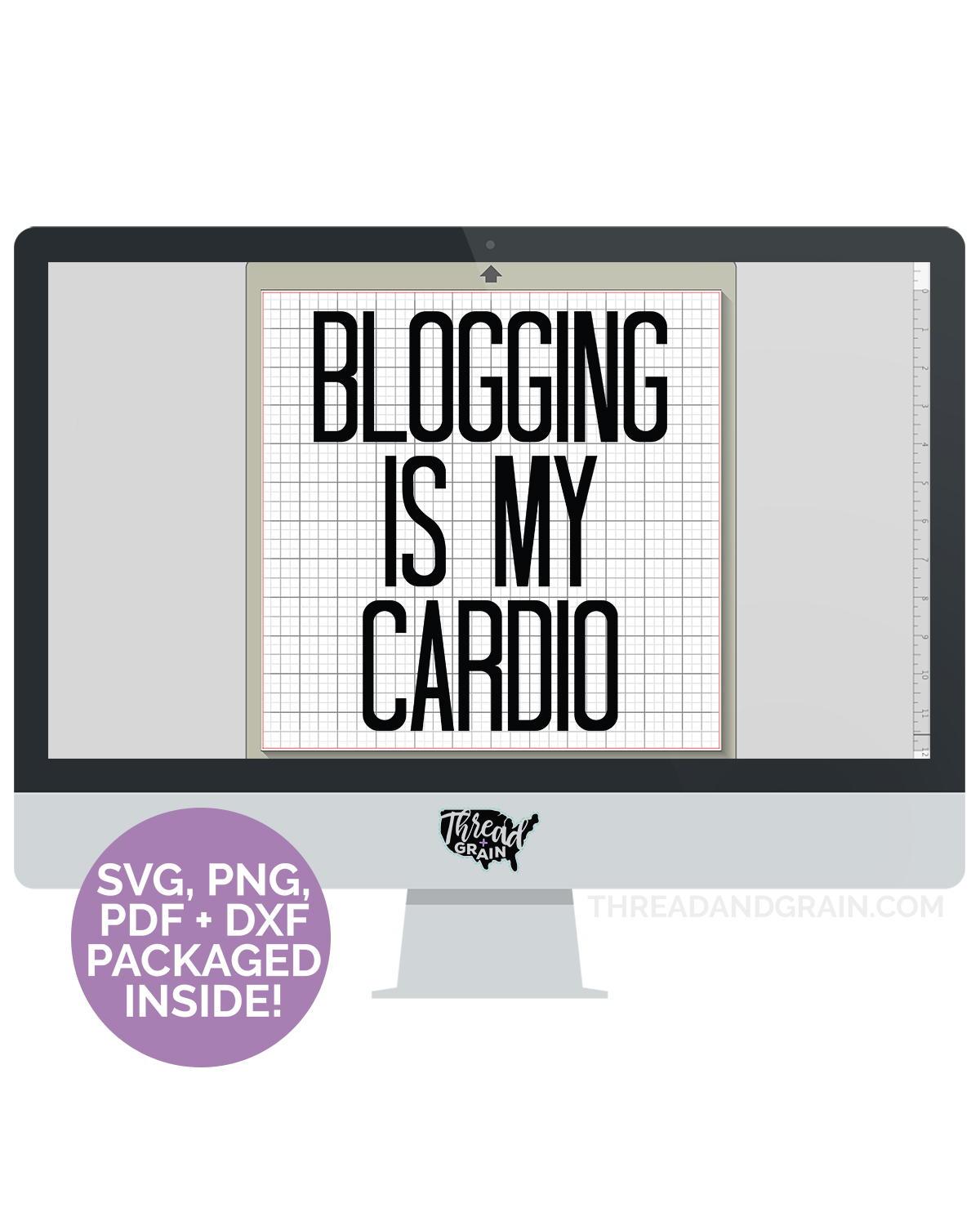 Blogging is My Cardio DIGITAL CUT FILE