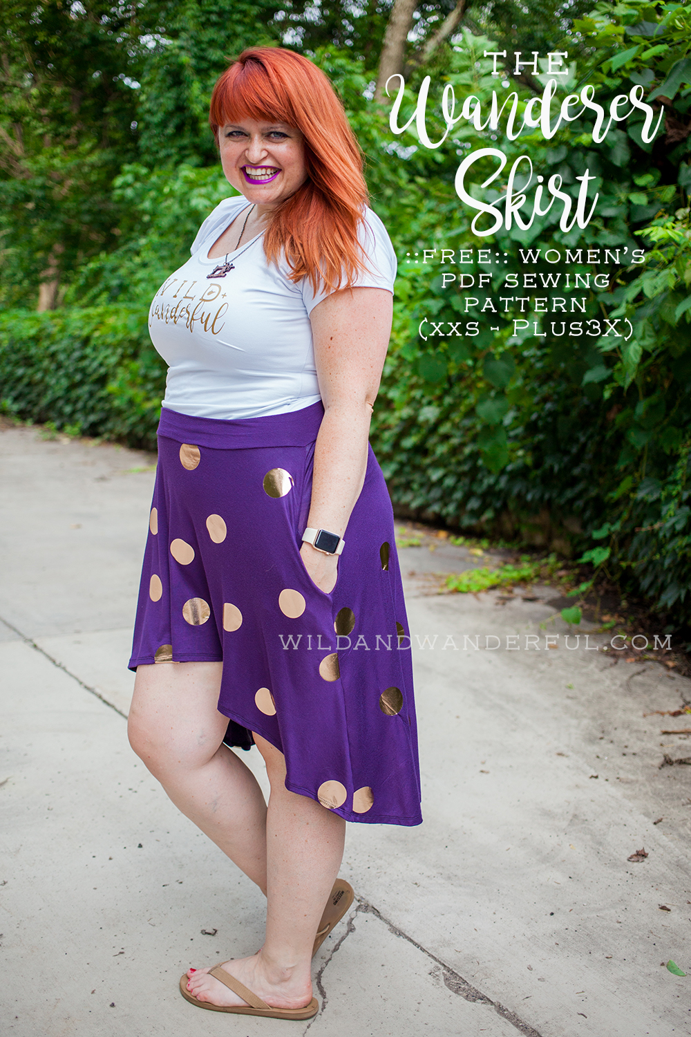 The Wanderer Skirt  :: FREE Women's High-Low Skirt Pattern
