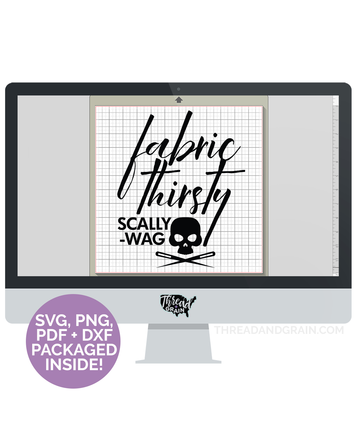 Fabric Thirsty Scallywag DIGITAL CUT FILE
