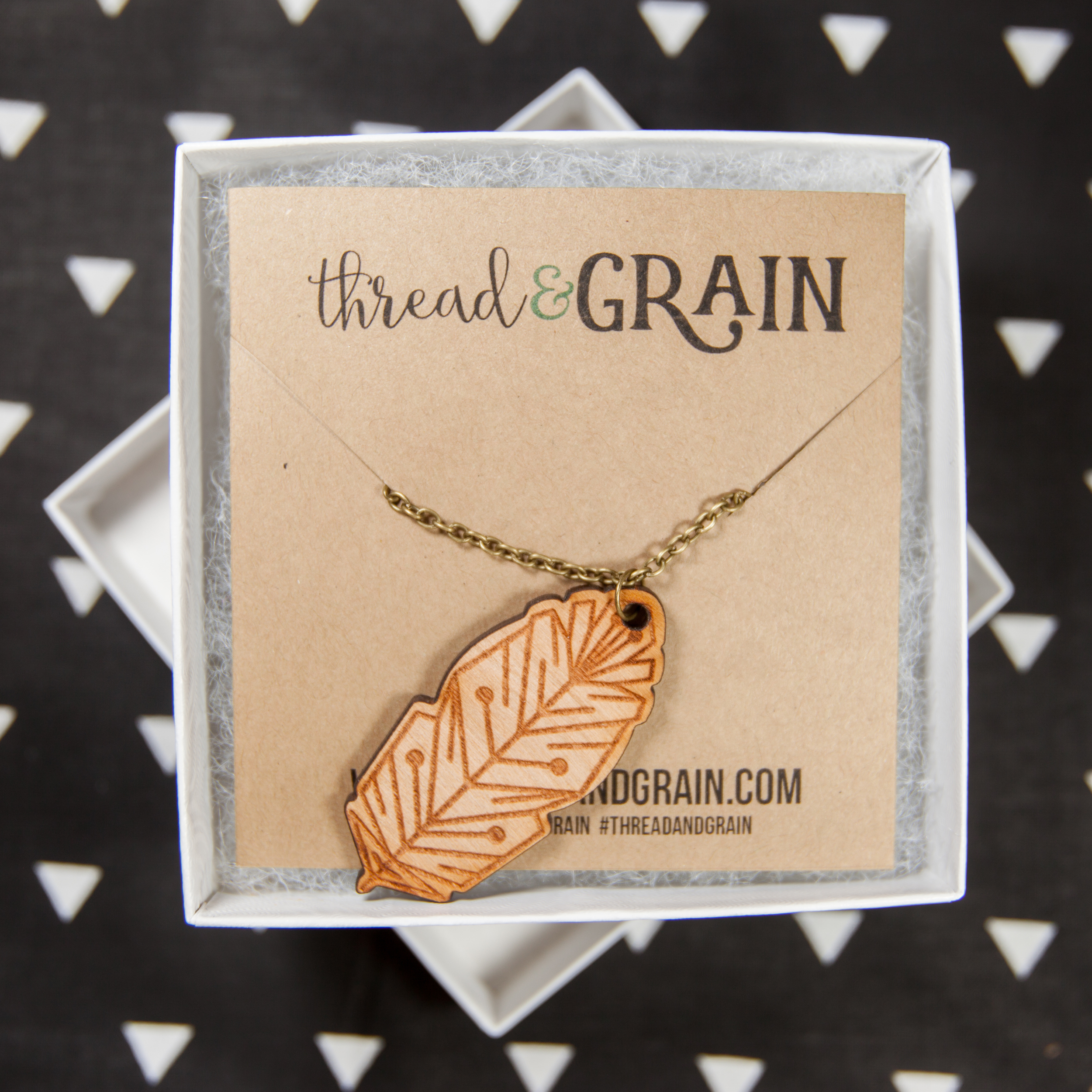 Feather WOODEN NECKLACE
