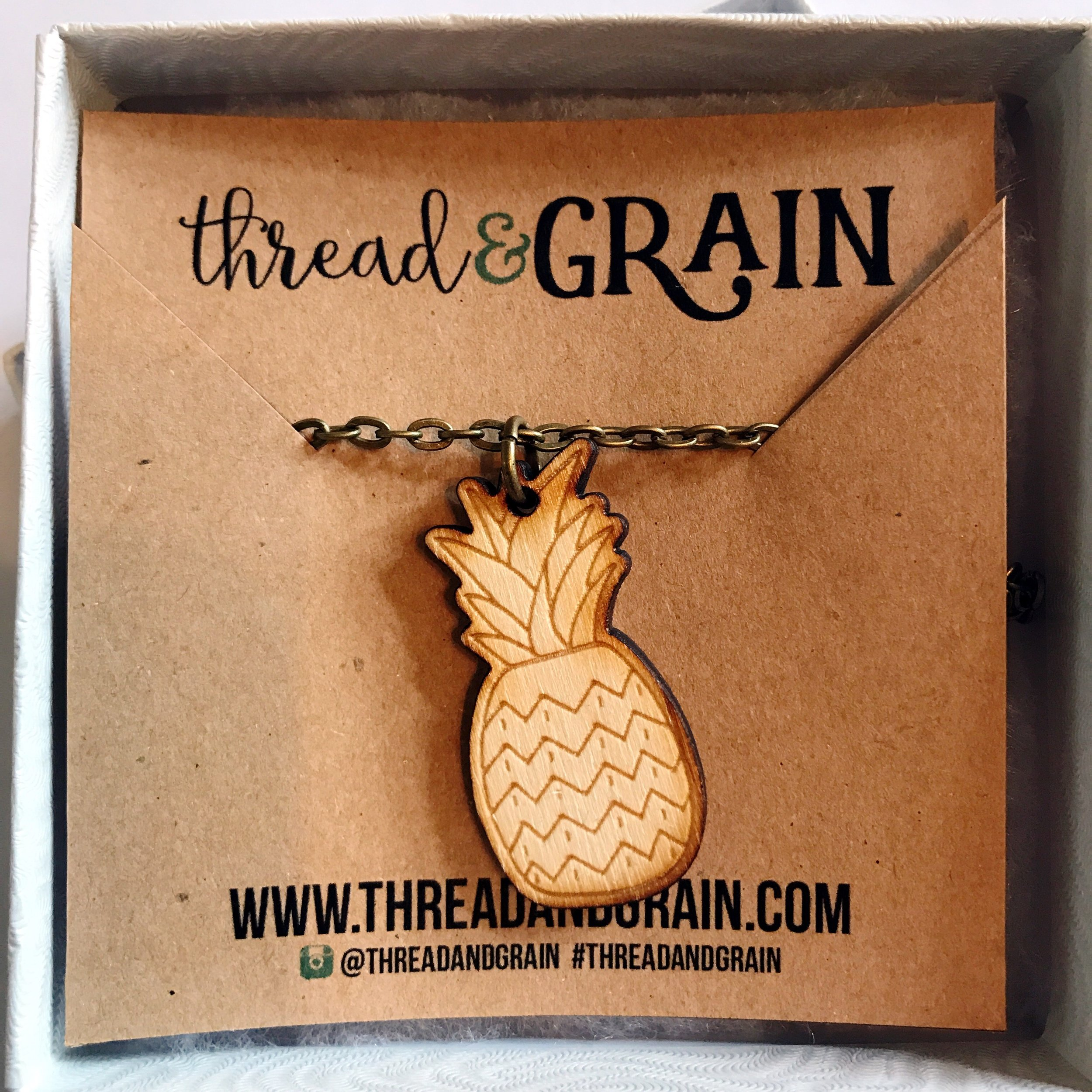 Pineapple WOODEN NECKLACE