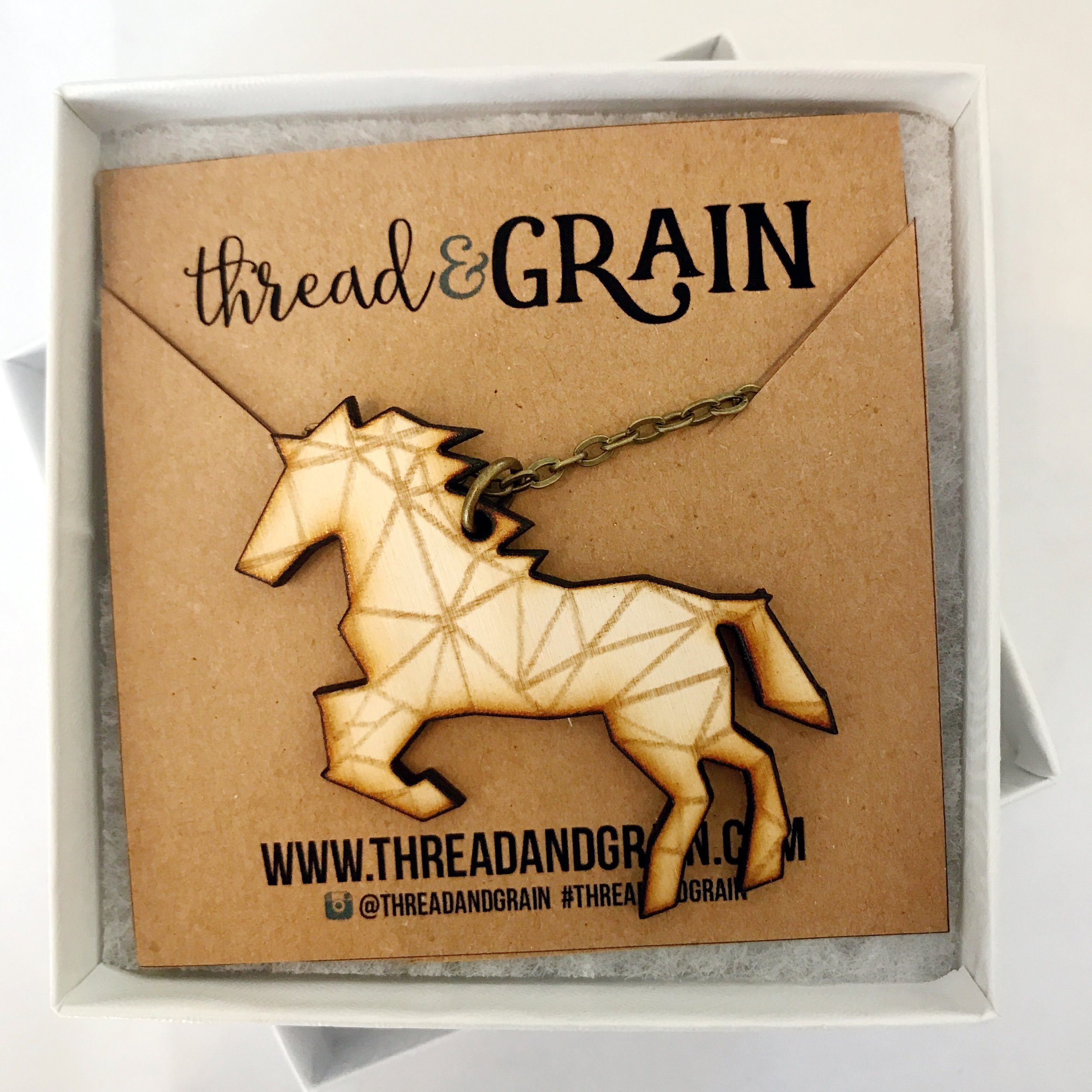 Origami Horse WOODEN NECKLACE