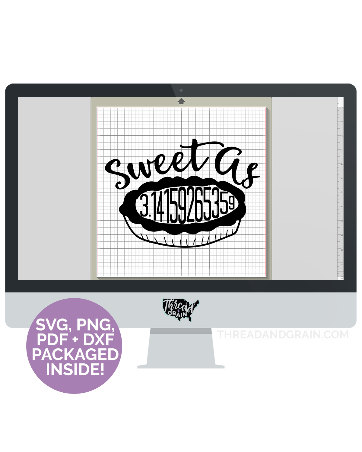 Sweet As Pi DIGITAL CUT FILE