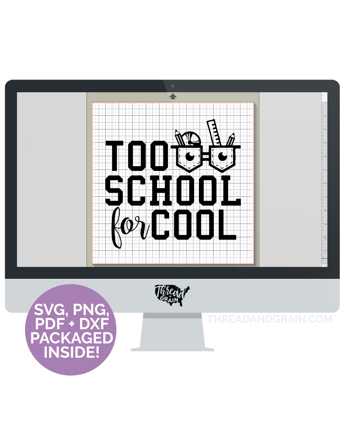 Too School for Cool DIGITAL CUT FILE