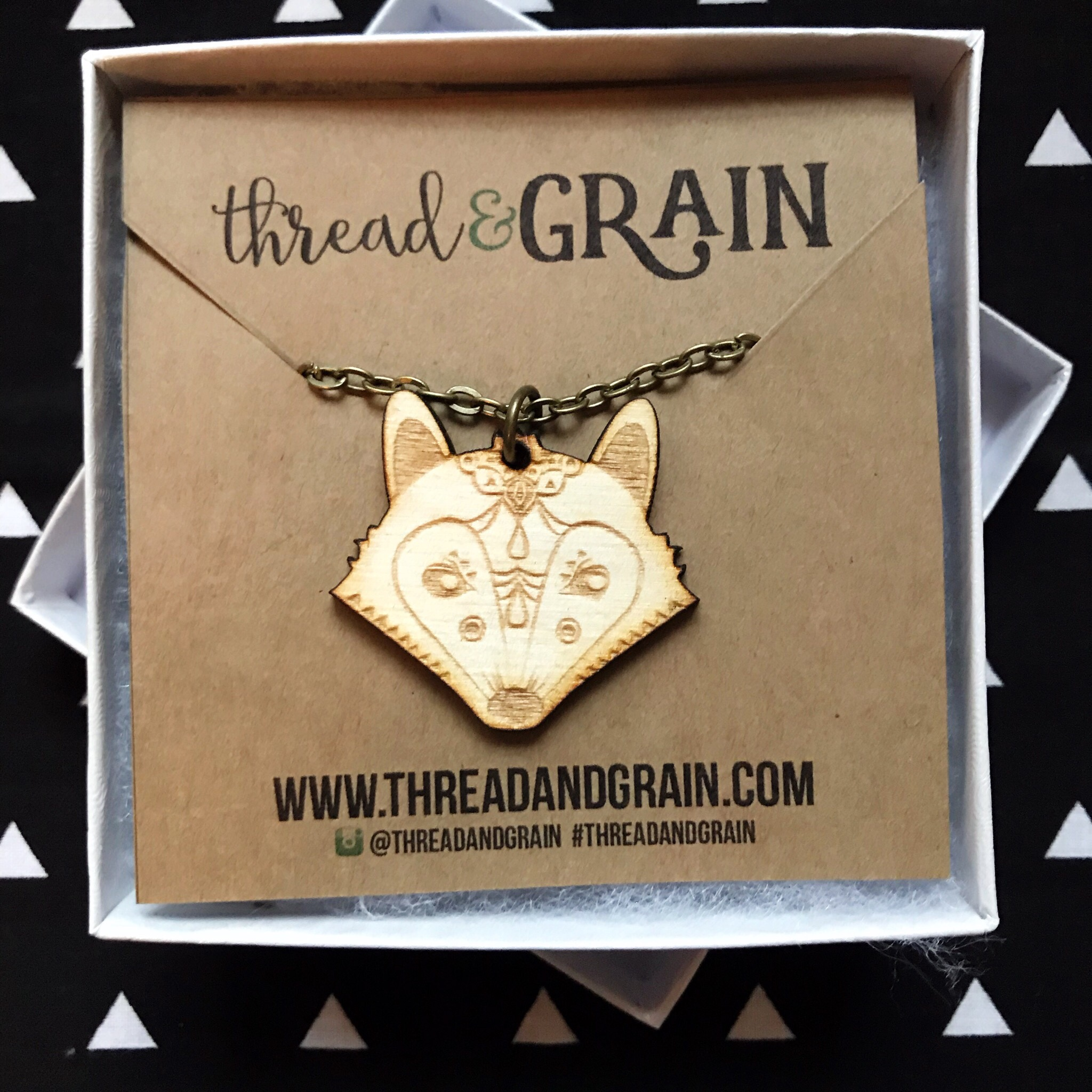 Fox WOODEN NECKLACE