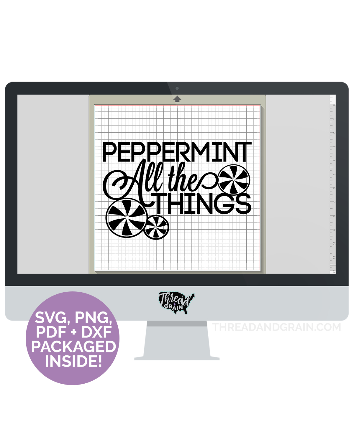 Peppermint All the Things DIGITAL CUT FILE