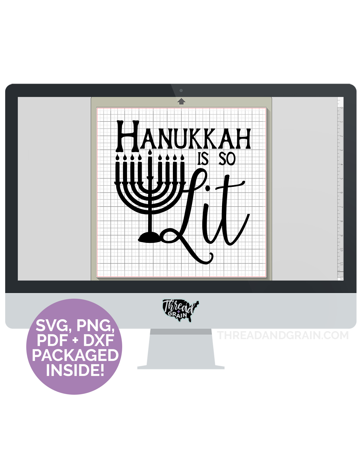Hanukkah is So Lit DIGITAL CUT FILE