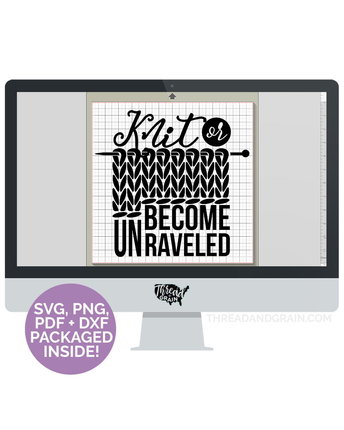 Knit or Become Unraveled DIGITAL CUT FILE