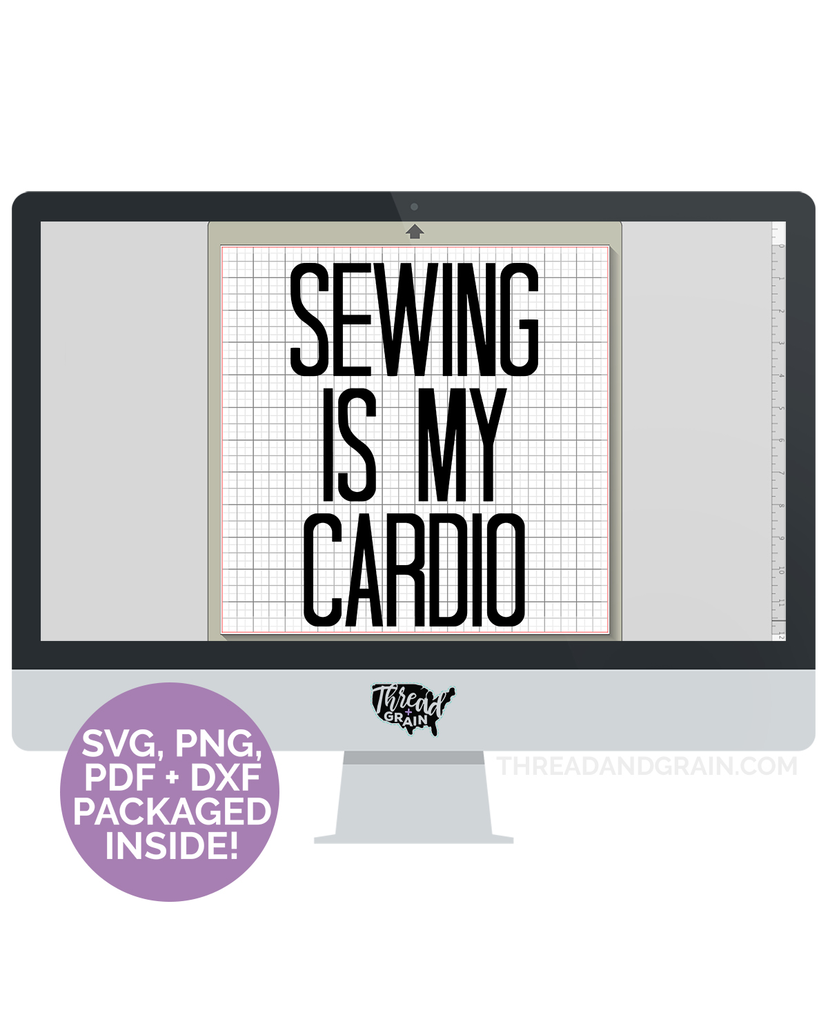 Sewing Is My Cardio DIGITAL CUT FILE
