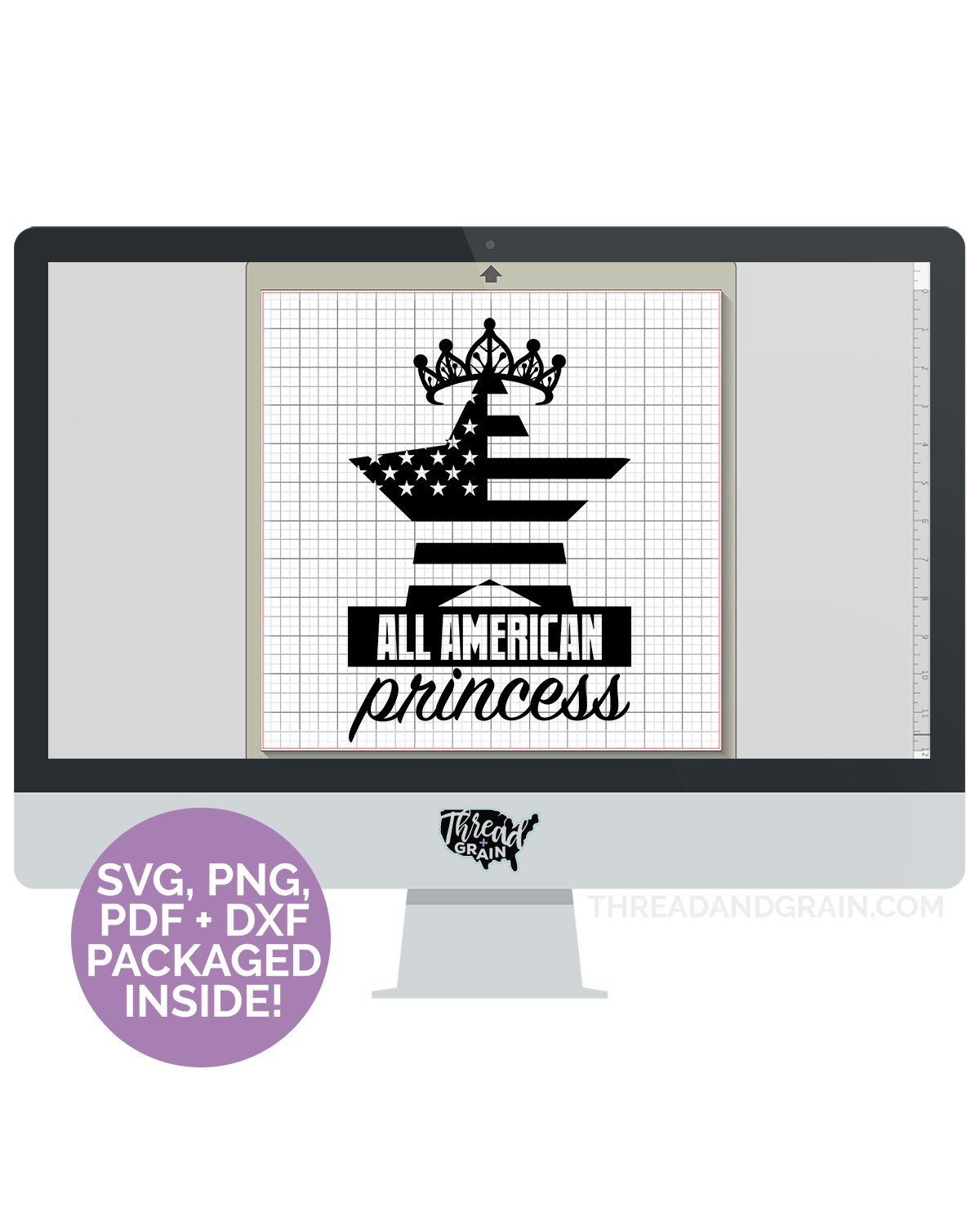 All American Princess DIGITAL CUT FILE