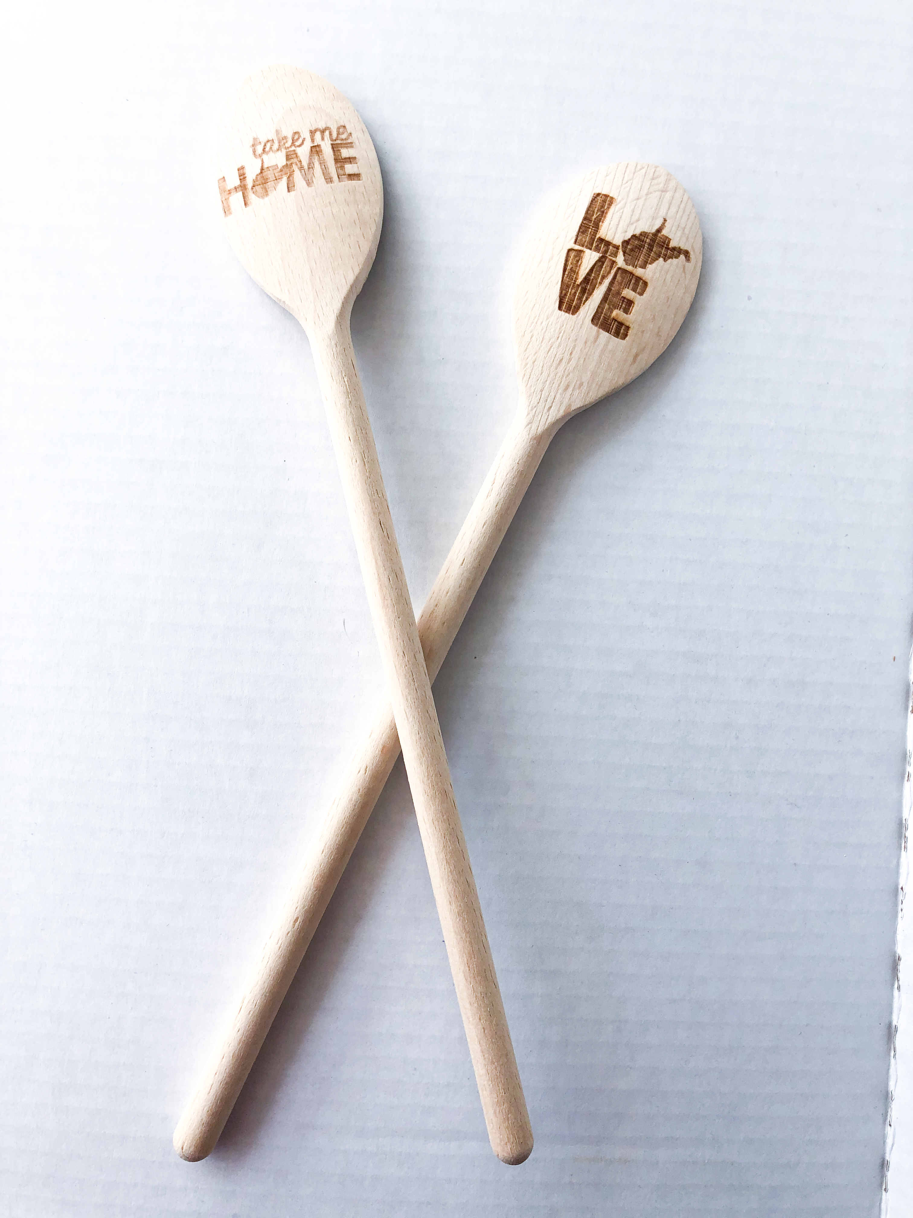 West Virginia Wooden Engraved Spoon – Spring Cleaning Sale