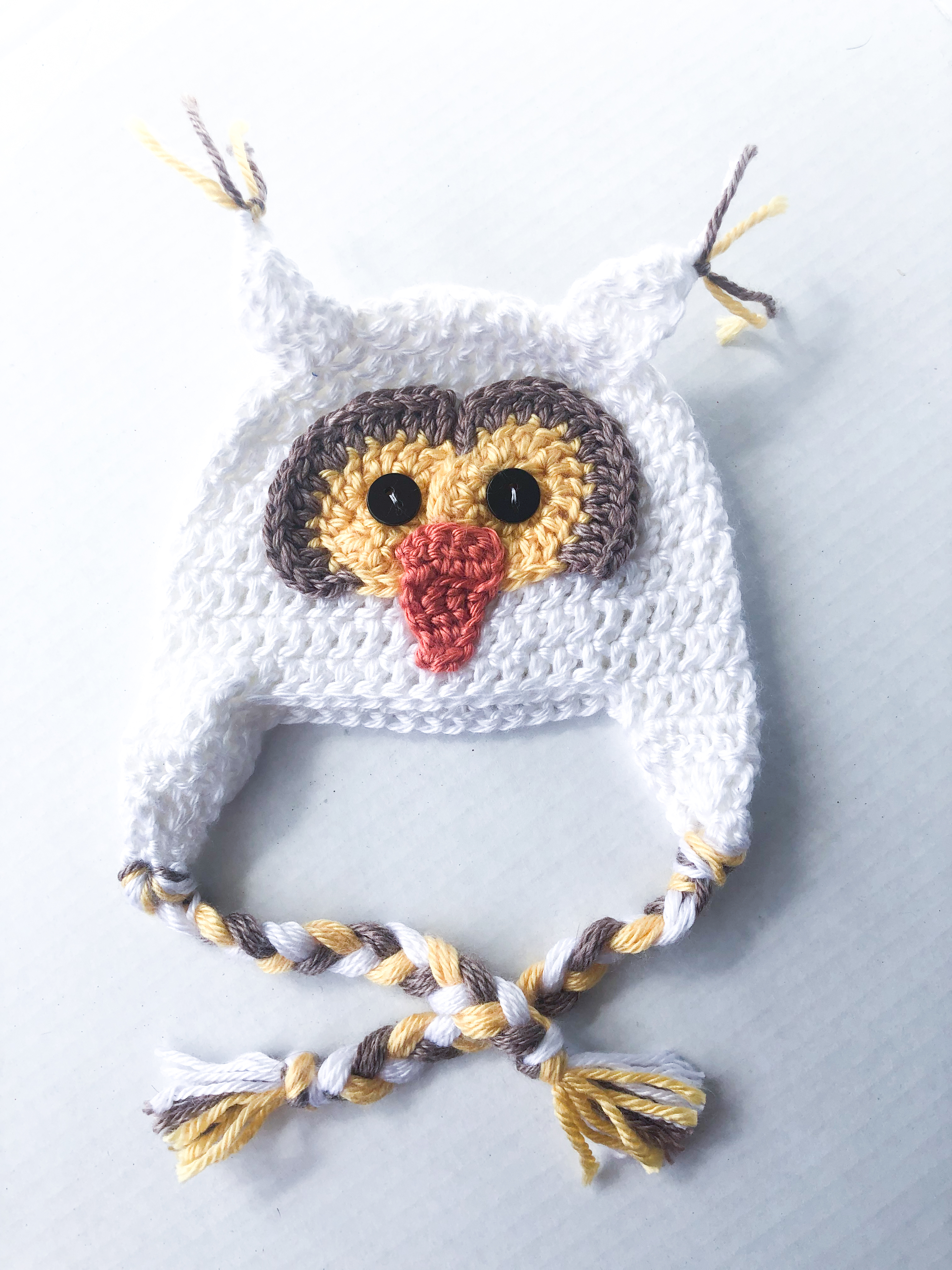 Baby Owl HAND-CROCHETED HAT