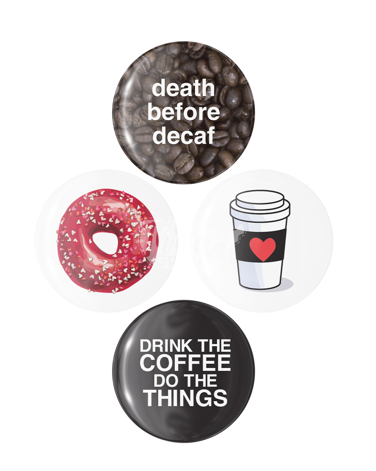 Coffee Lovers Only BUTTON PIN SET