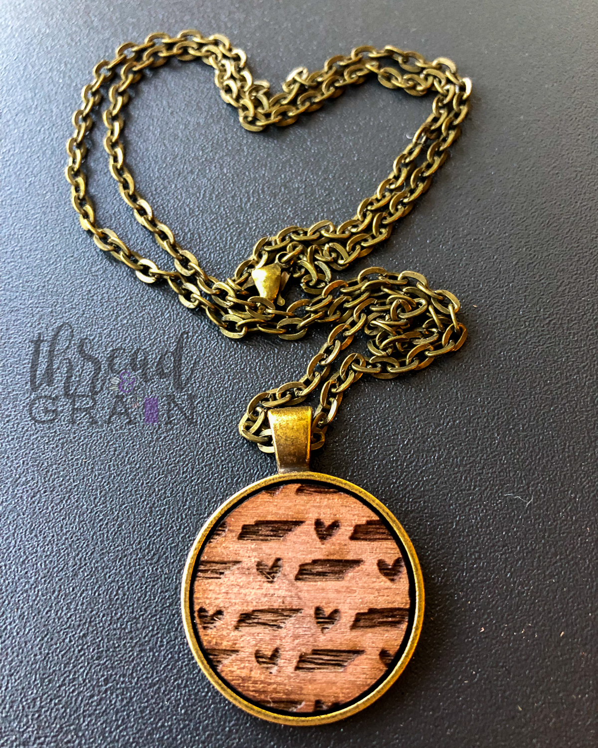 Tennessee :: Laser Engraved, Wooden, Disc-Mounted Necklace
