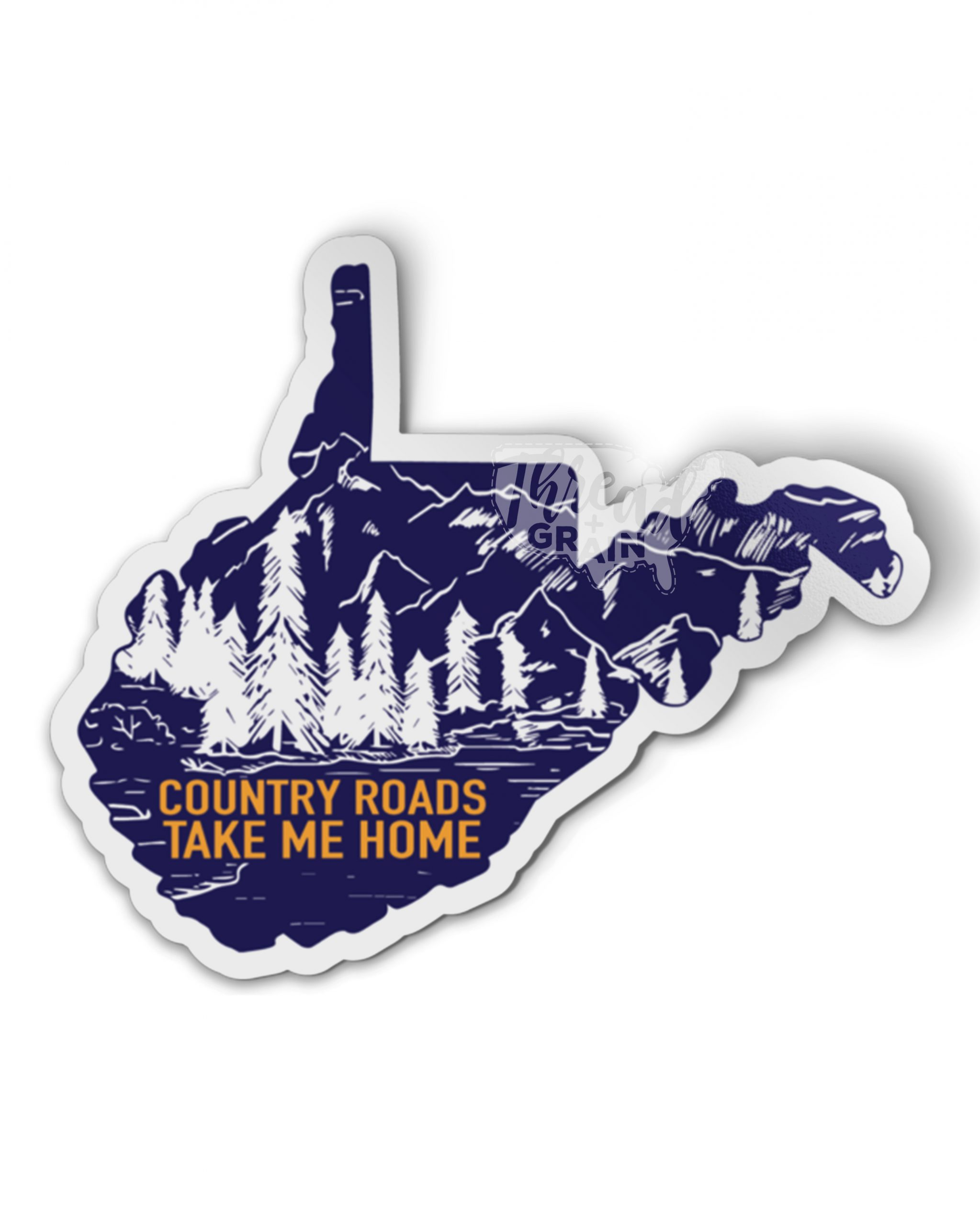 West Virginia :: Country Roads, Take Me Home PERMANENT + WATERPROOF STICKER