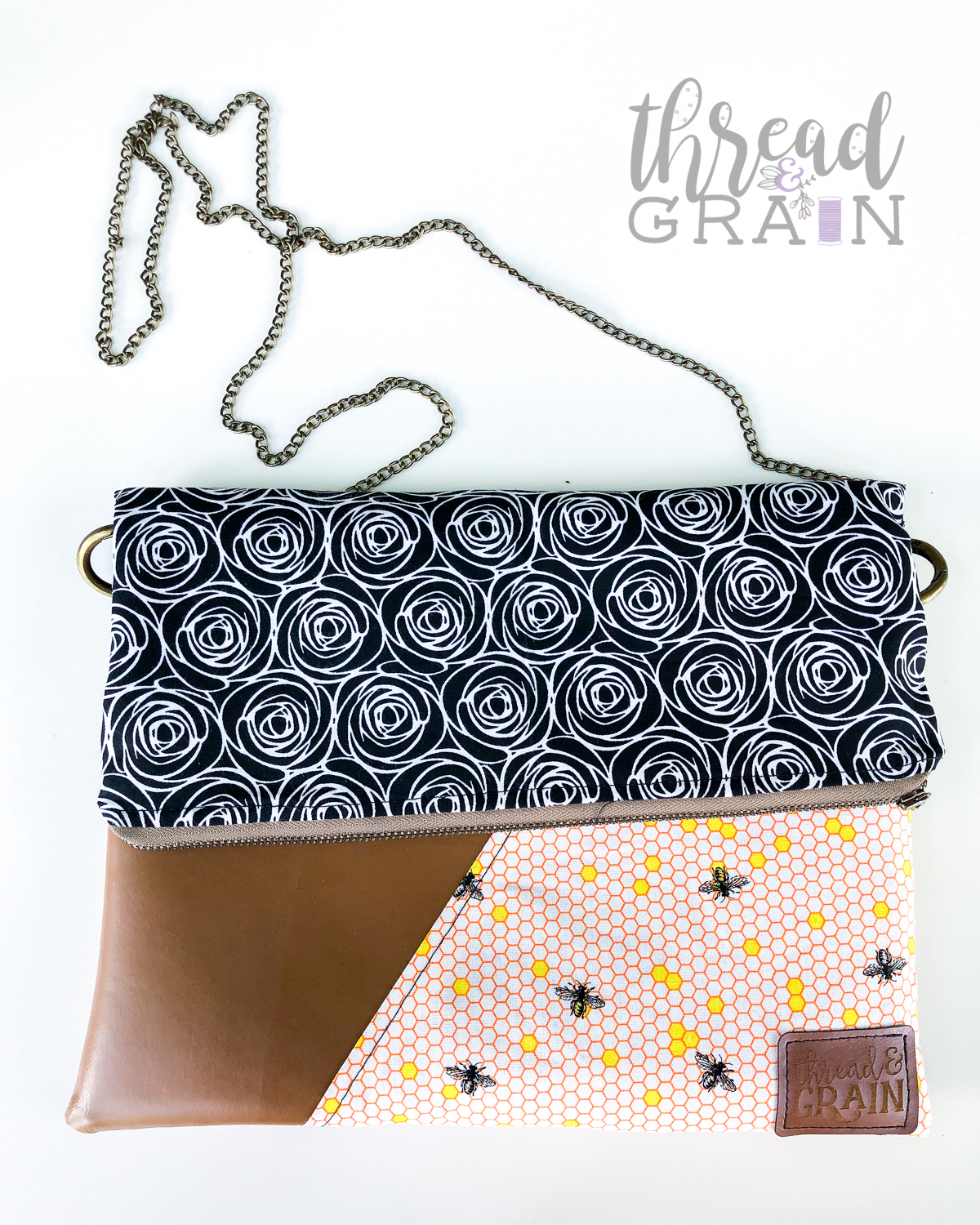 Bees + Roses EVELYN FOLD-OVER CLUTCH