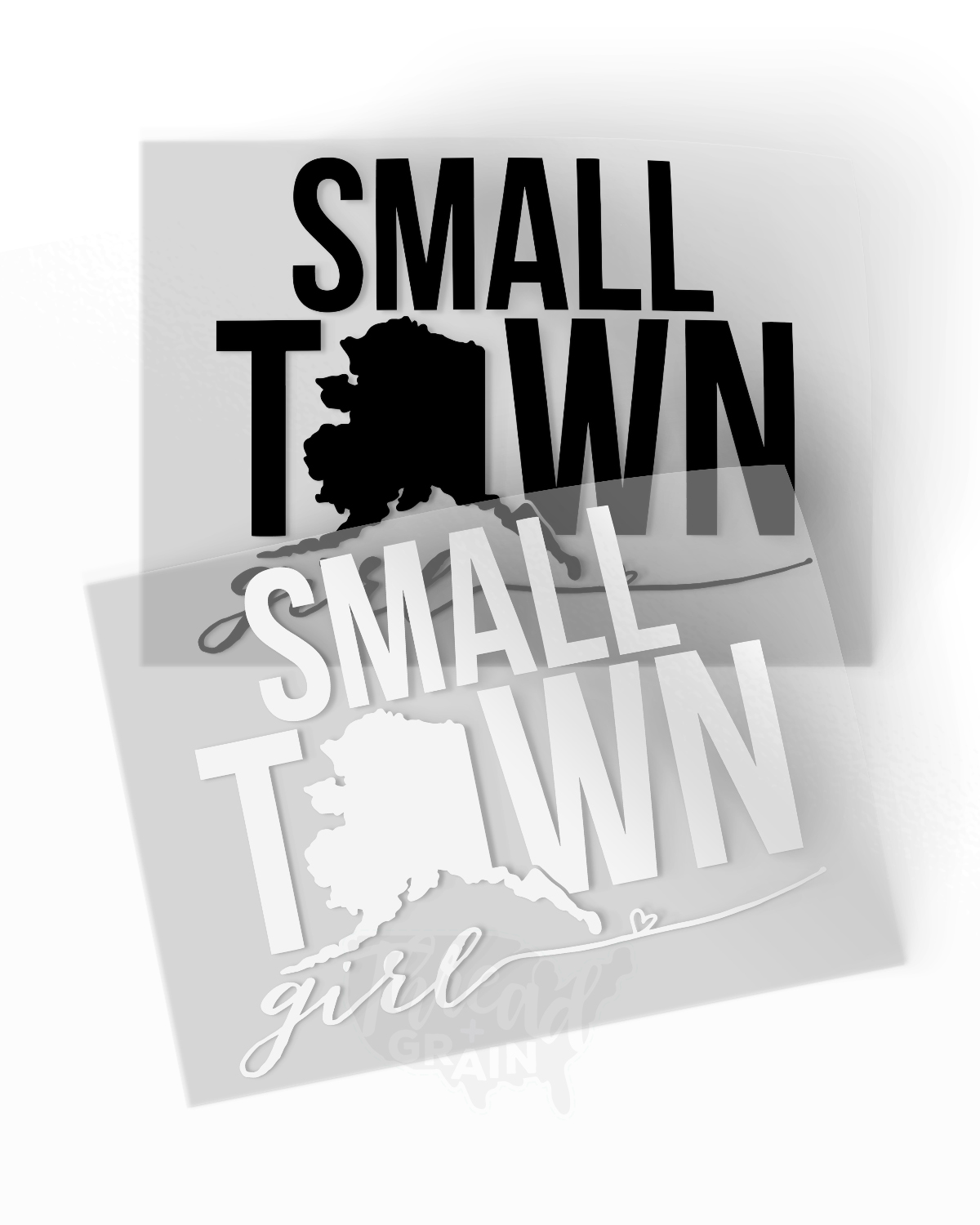 Alaska :: Small Town Girl IRON-ON TRANSFER
