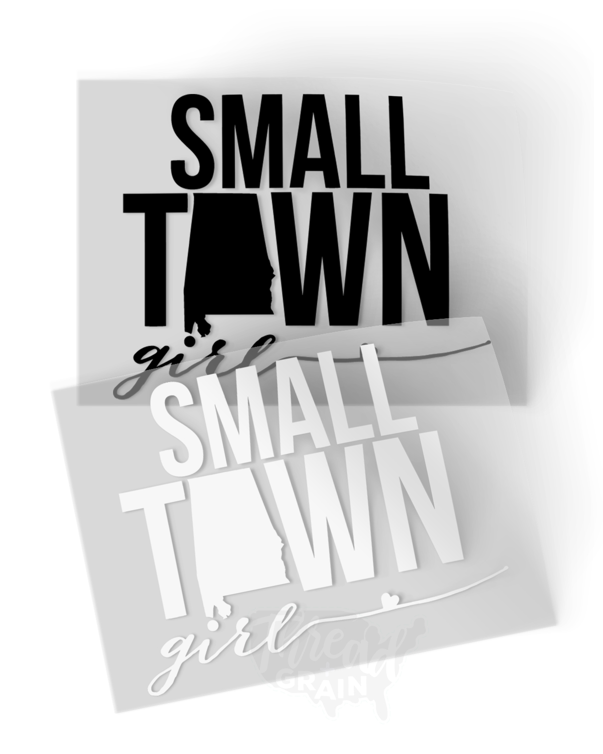 Alabama :: Small Town Girl IRON-ON TRANSFER