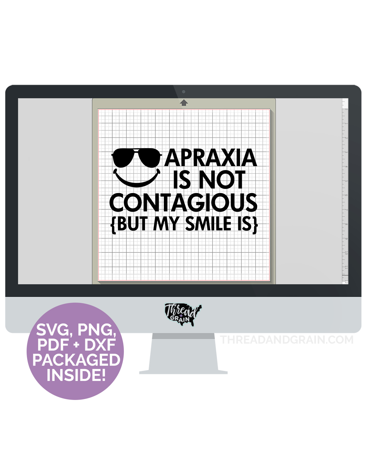 Apraxia Is Not Contagious, but My Smile Is DIGITAL CUT FILE
