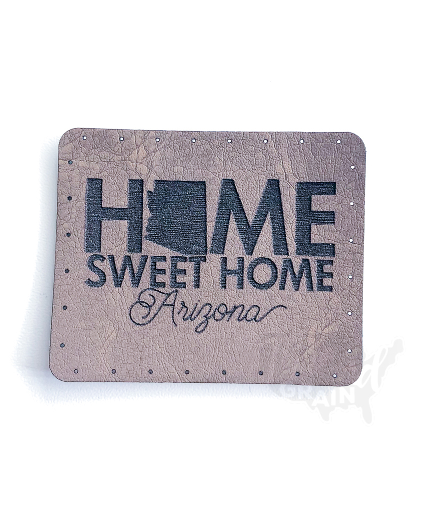 Arizona :: Home, Sweet Home VEGAN LEATHER PATCH