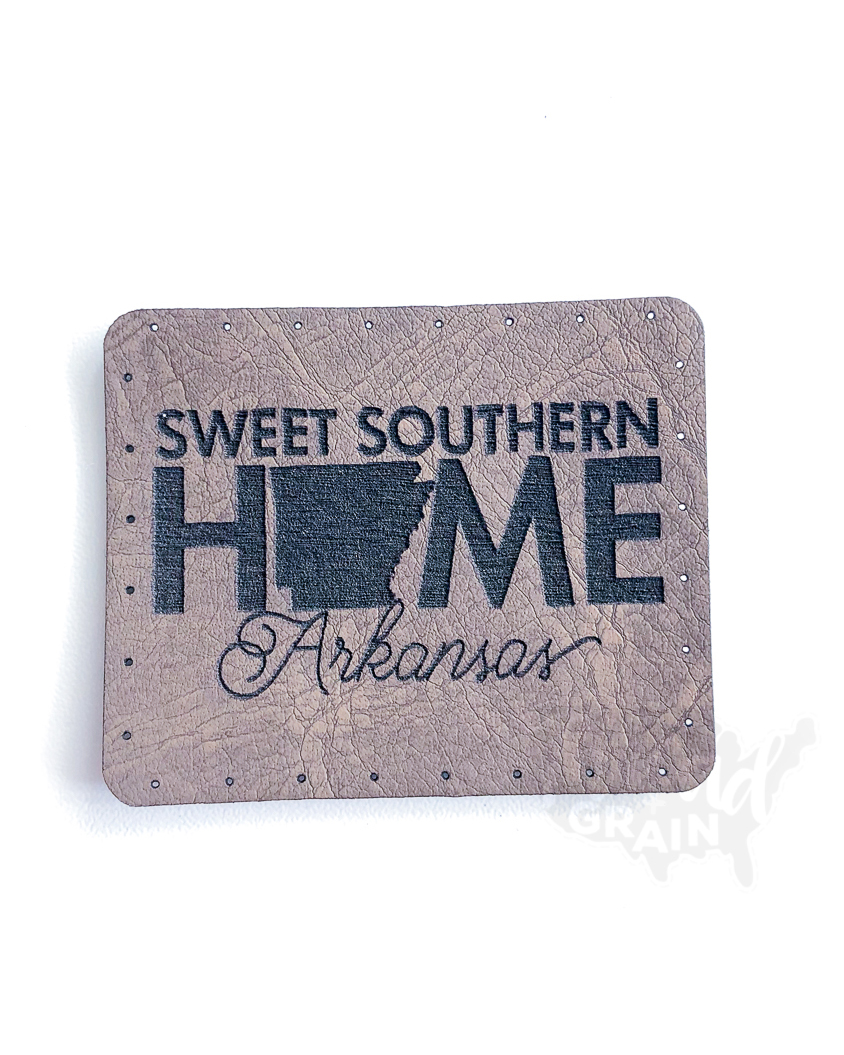 Arkansas :: Sweet Southern Home VEGAN LEATHER PATCH