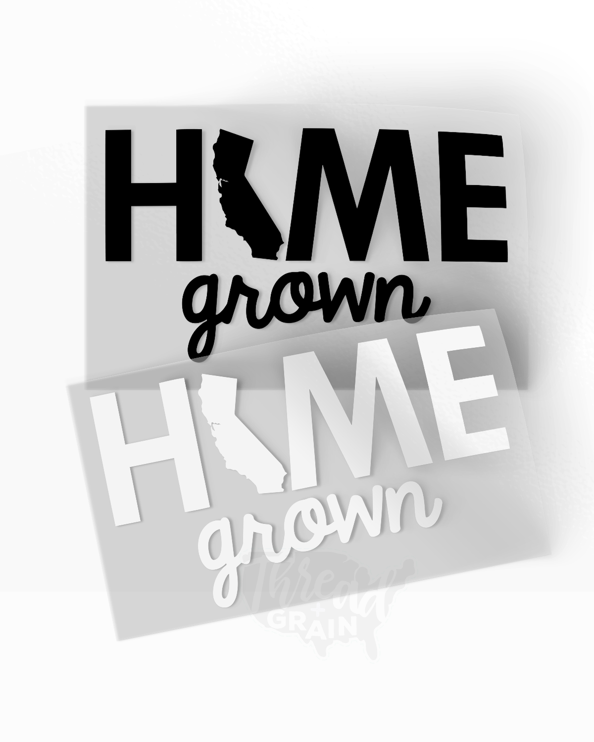 California :: Home Grown IRON-ON TRANSFER