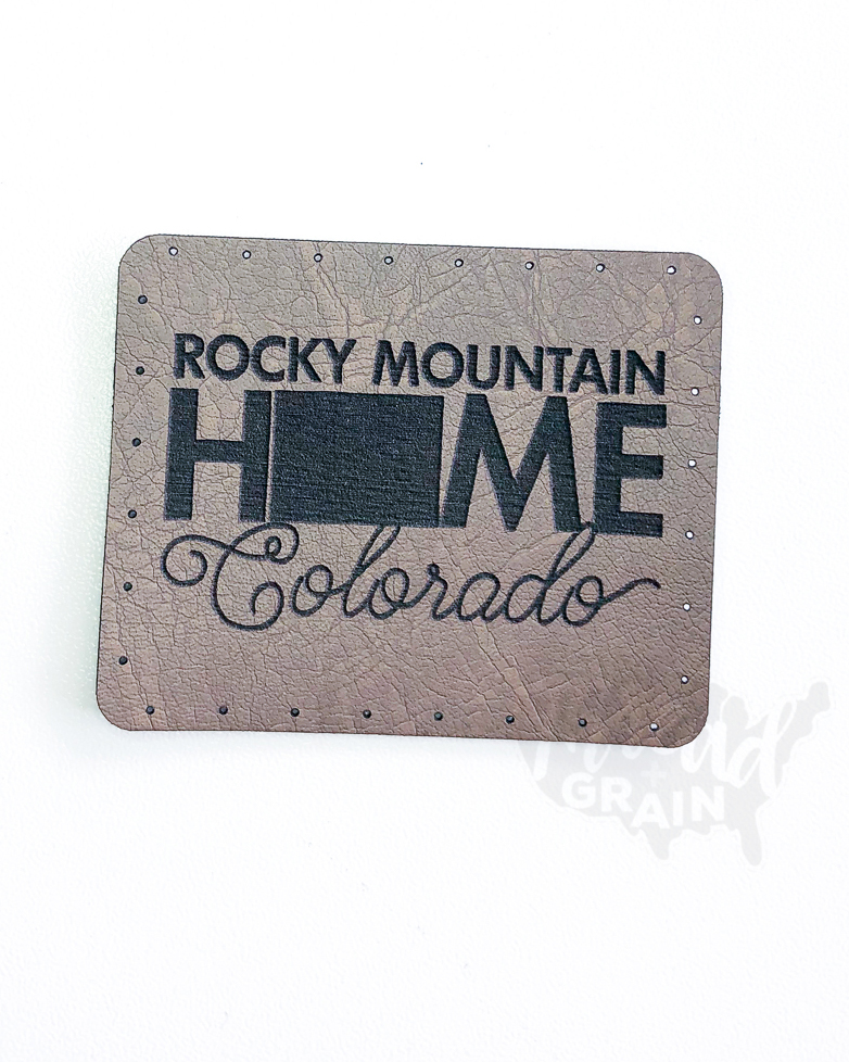 Colorado :: Rocky Mountain Home VEGAN LEATHER PATCH