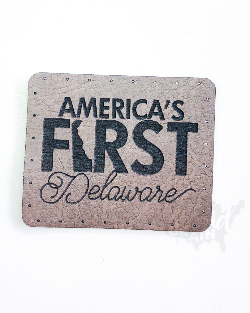 Delaware :: America's First VEGAN LEATHER PATCH
