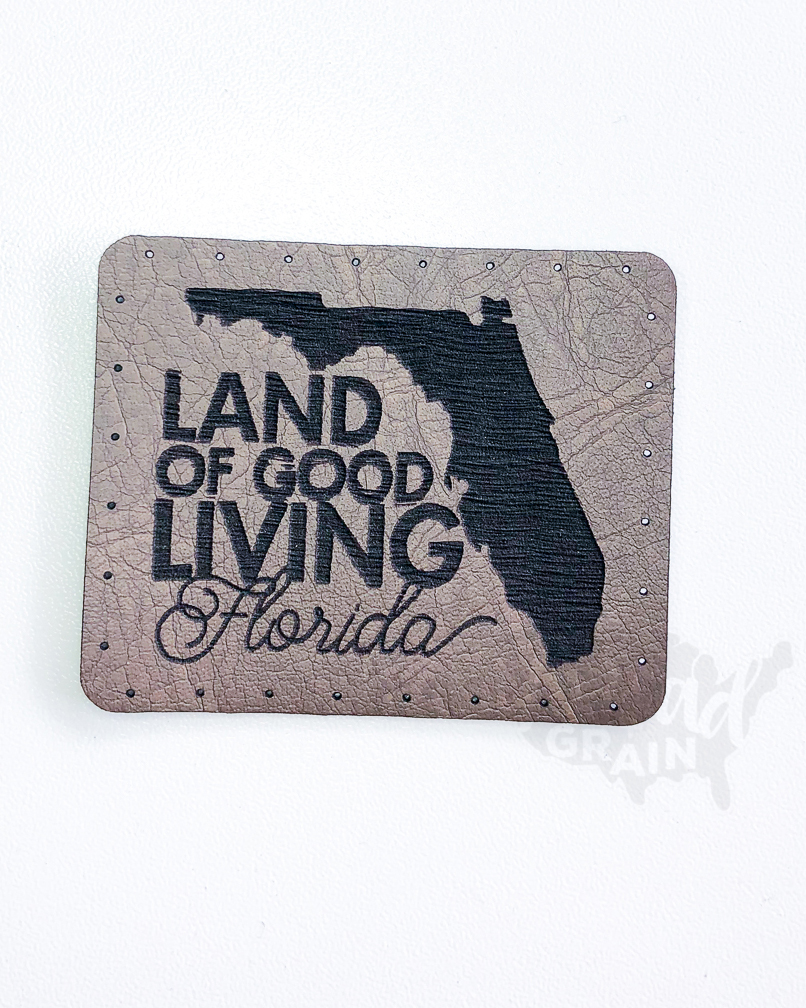 Florida :: Land of Good Living VEGAN LEATHER PATCH