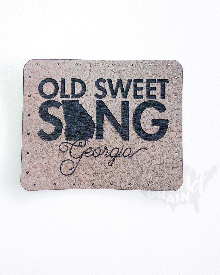 Georgia :: Old Sweet Song VEGAN LEATHER PATCH