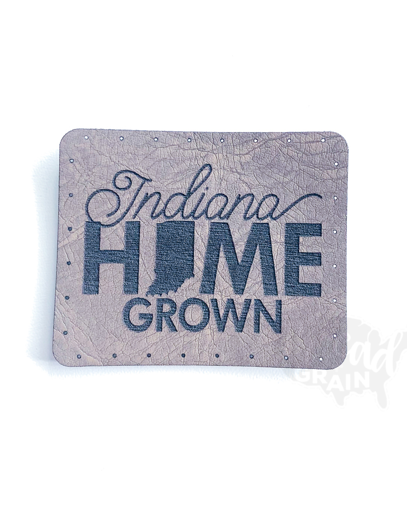 Indiana :: Home Grown VEGAN LEATHER PATCH