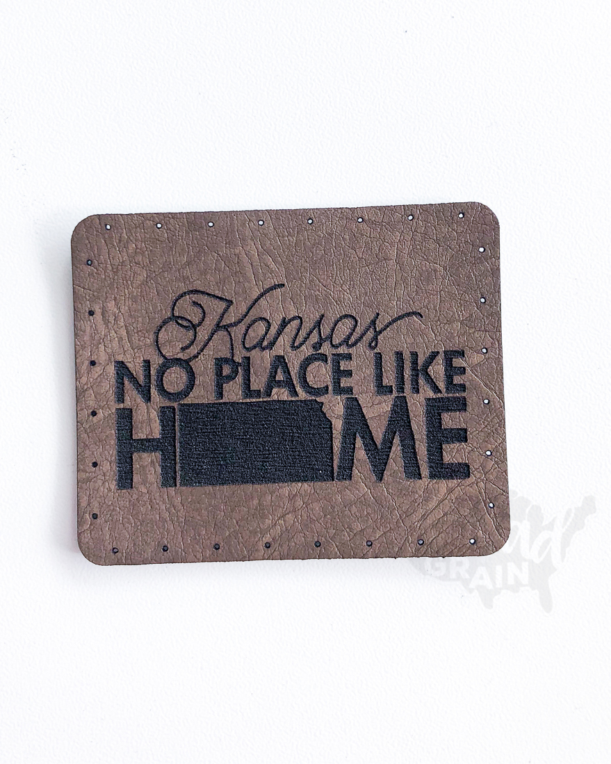 Kansas :: No Place Like Home VEGAN LEATHER PATCH