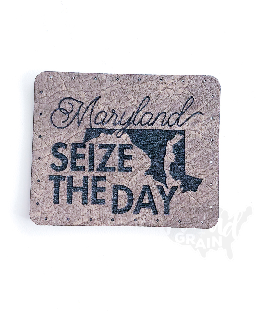 Maryland :: Seize the Day VEGAN LEATHER PATCH