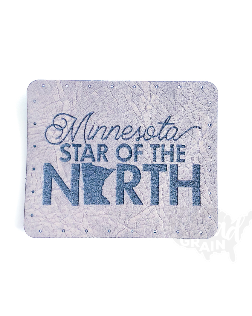 Minnesota :: Star of the North VEGAN LEATHER PATCH