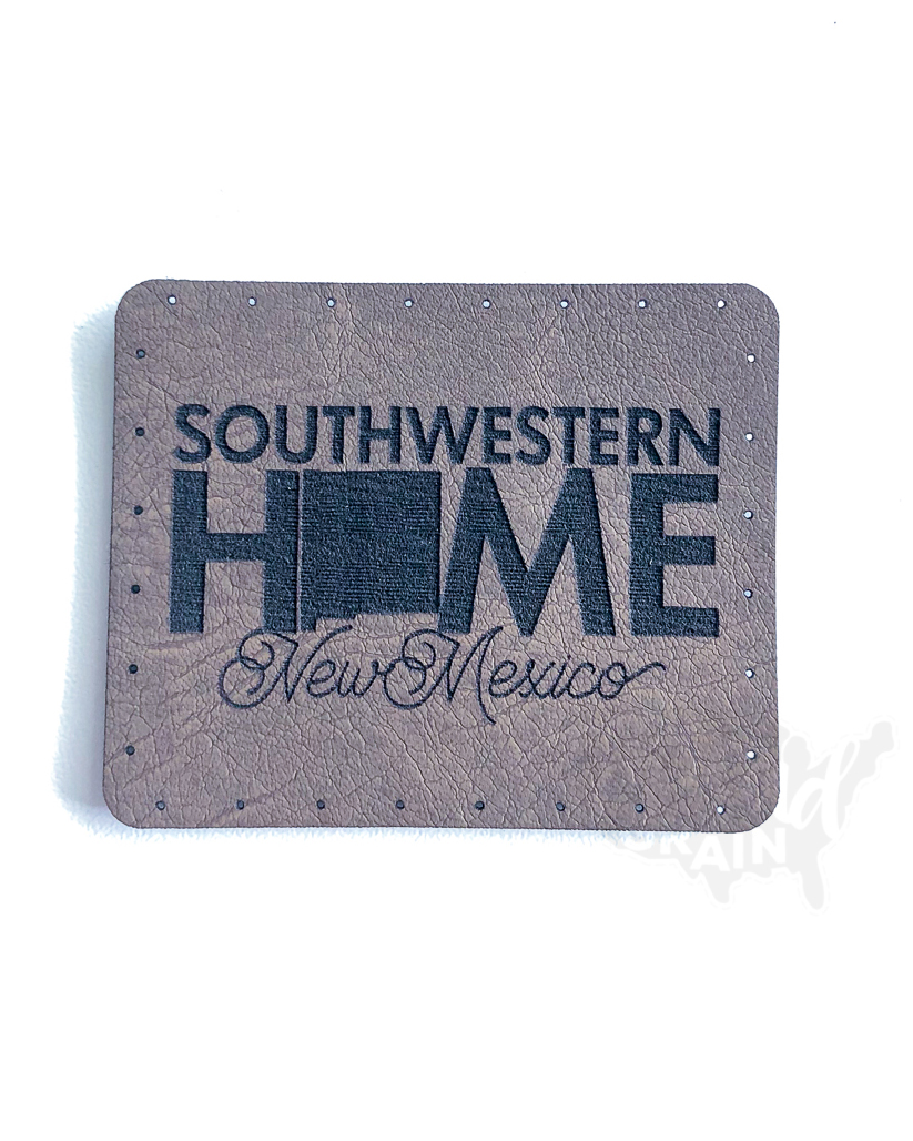 New Mexico :: Southwestern Home VEGAN LEATHER PATCH