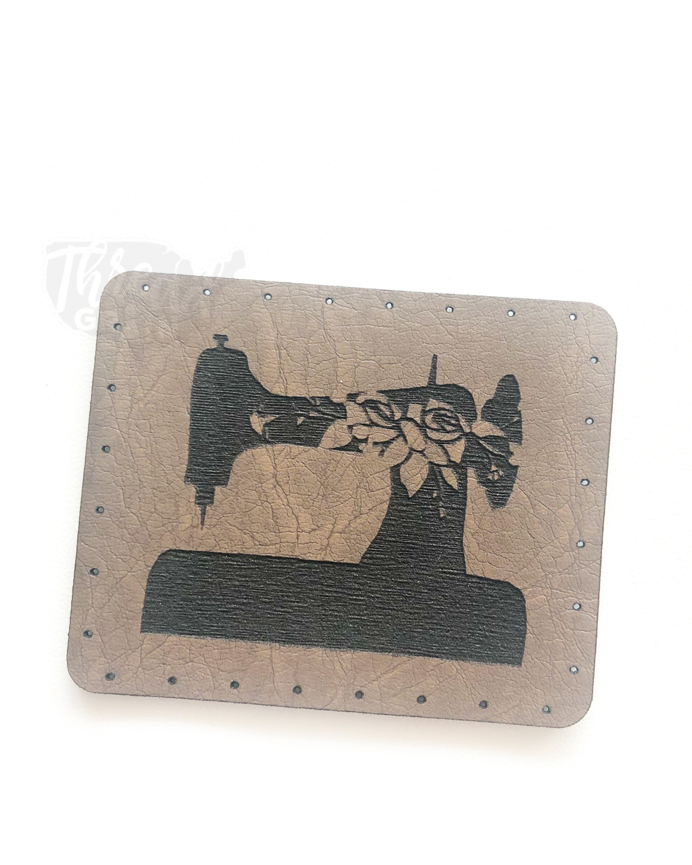 Sewing Machine VEGAN LEATHER PATCH