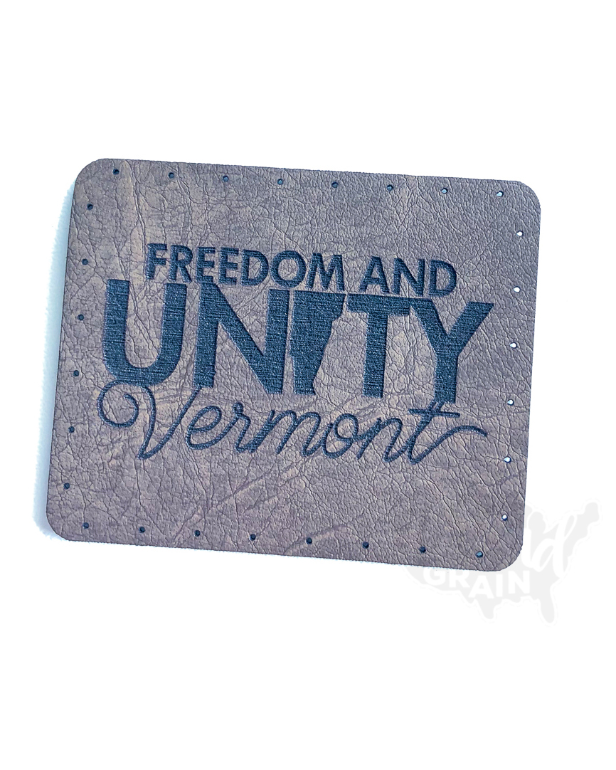 Vermont :: Freedom and Unity VEGAN LEATHER PATCH