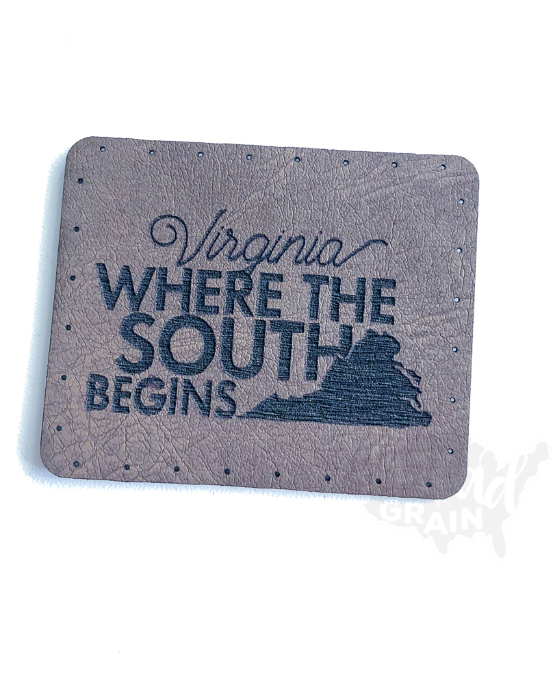 Virginia :: Where the South Begins VEGAN LEATHER PATCH