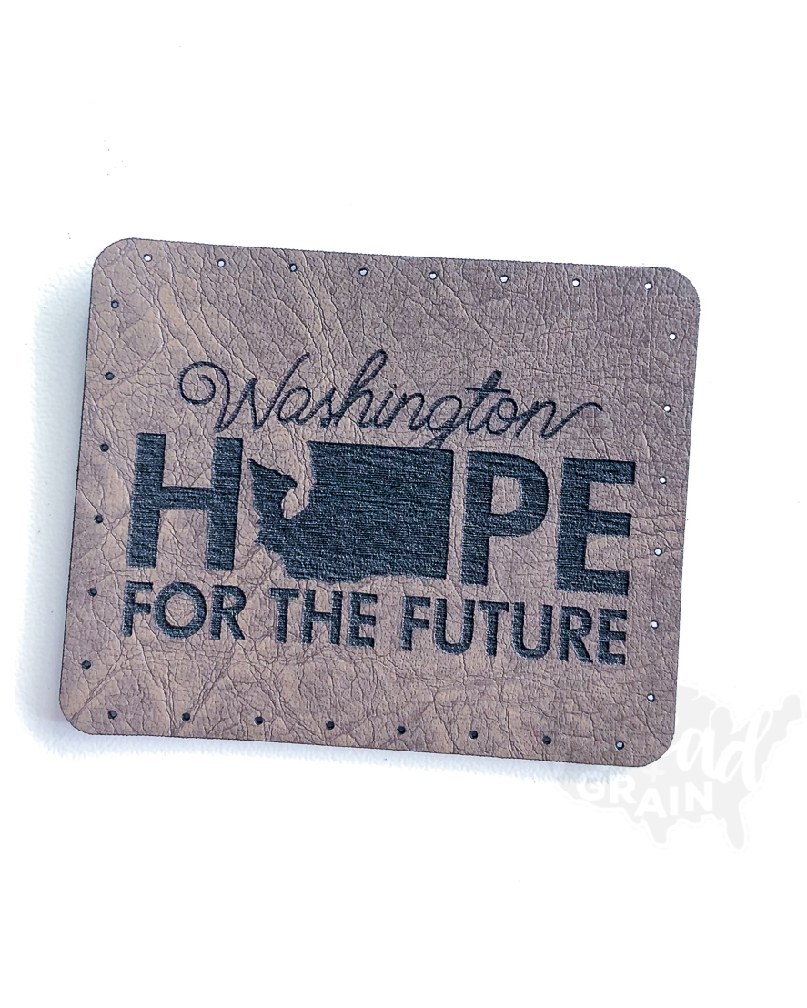 Washington :: Hope for the Future VEGAN LEATHER PATCH
