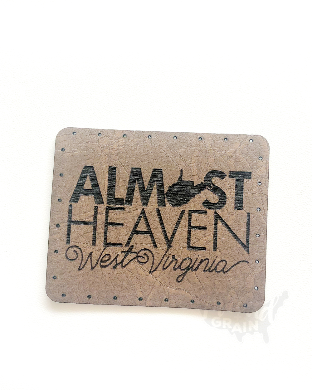 West Virginia :: Almost Heaven VEGAN LEATHER PATCH