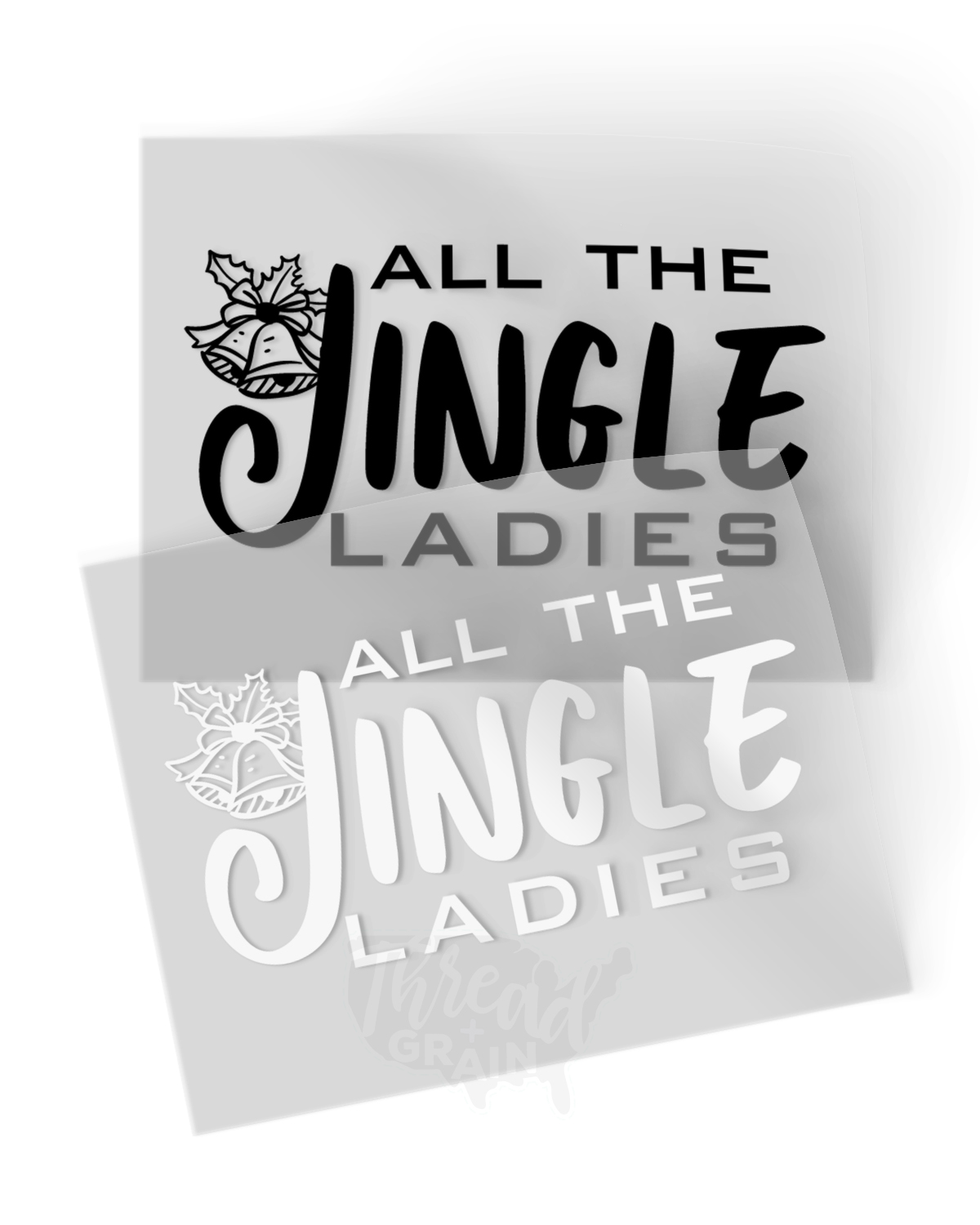 All The Jingle Ladies IRON-ON TRANSFER