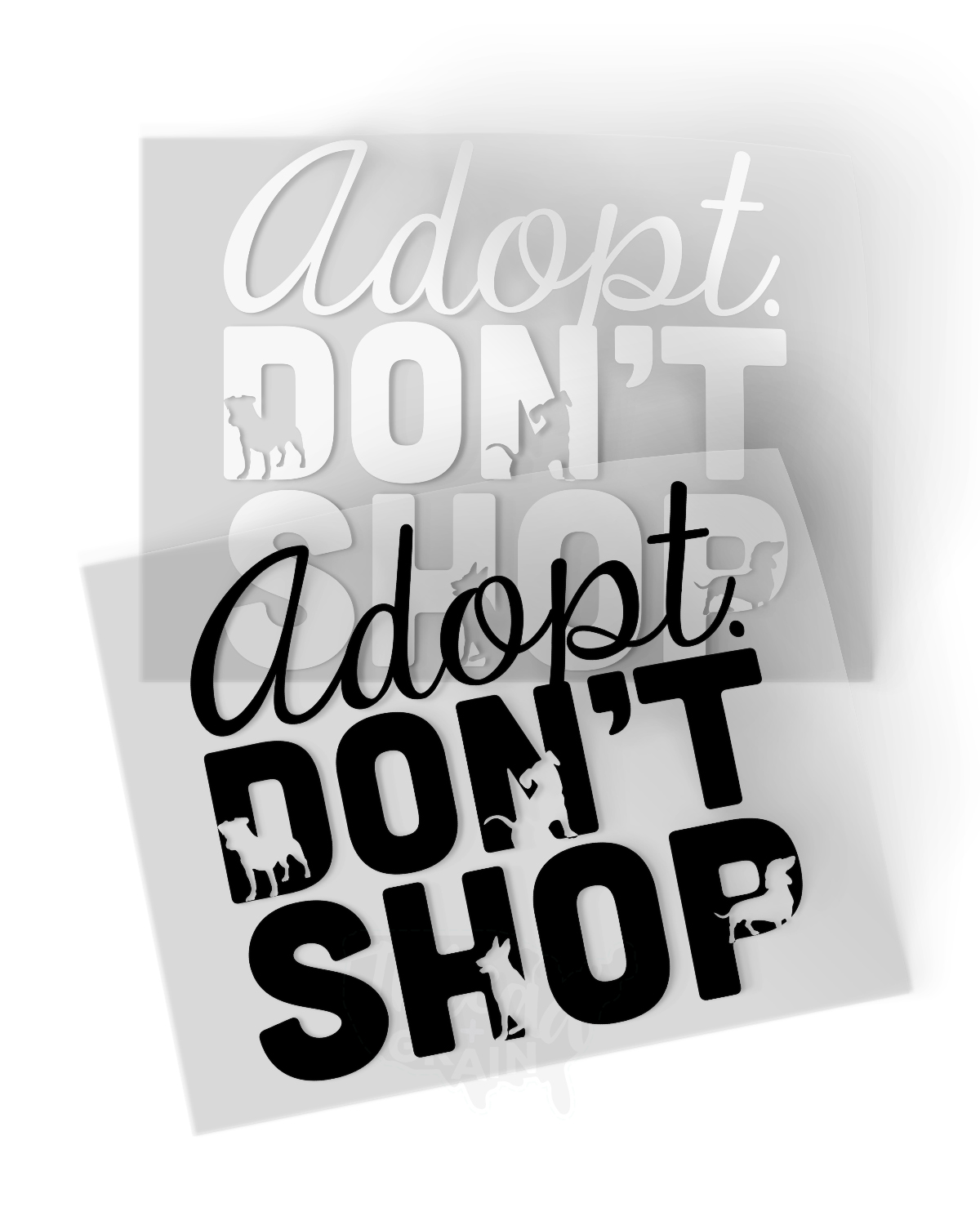 Adopt, Don't Shop IRON-ON TRANSFER