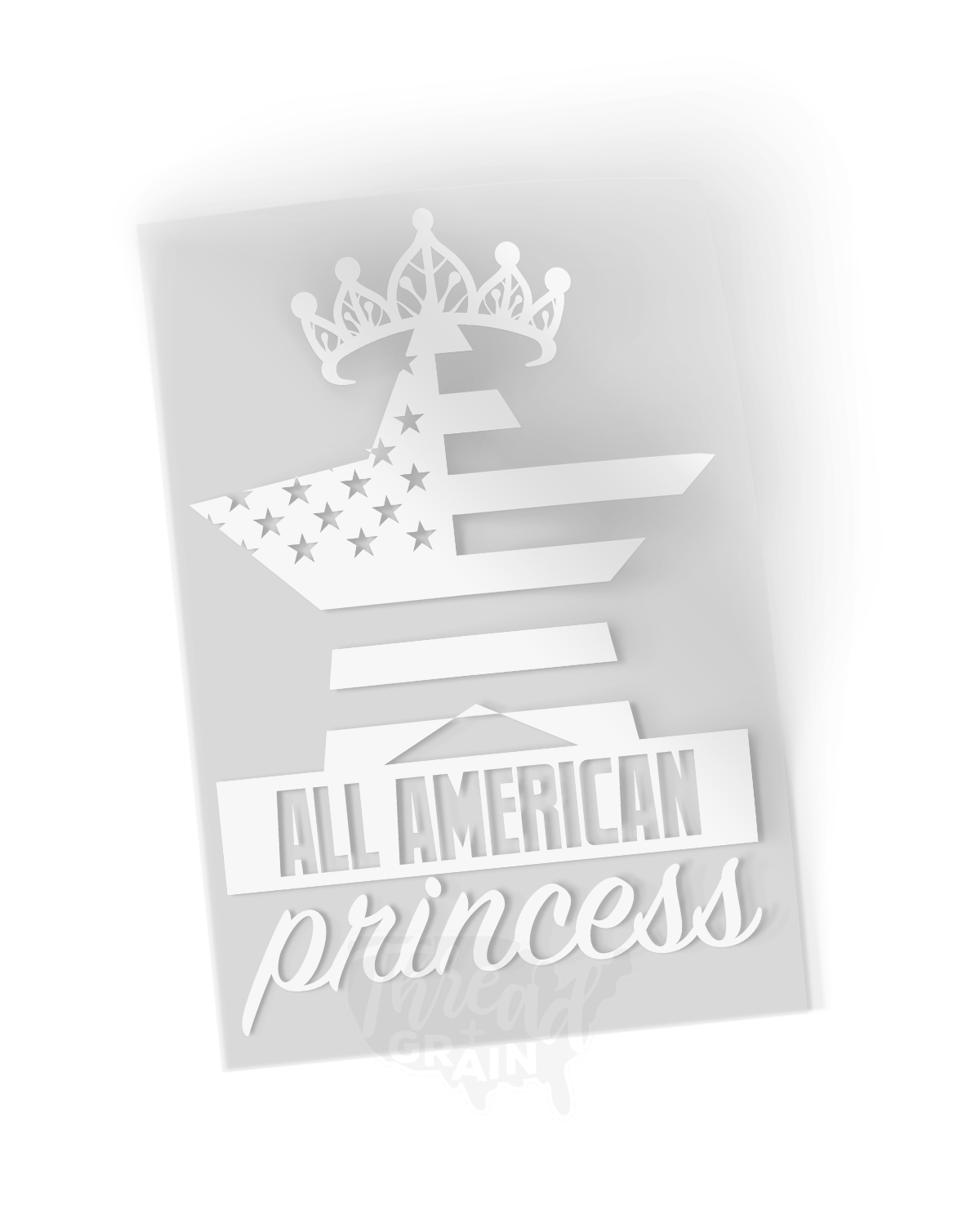 All American Princess IRON-ON TRANSFER