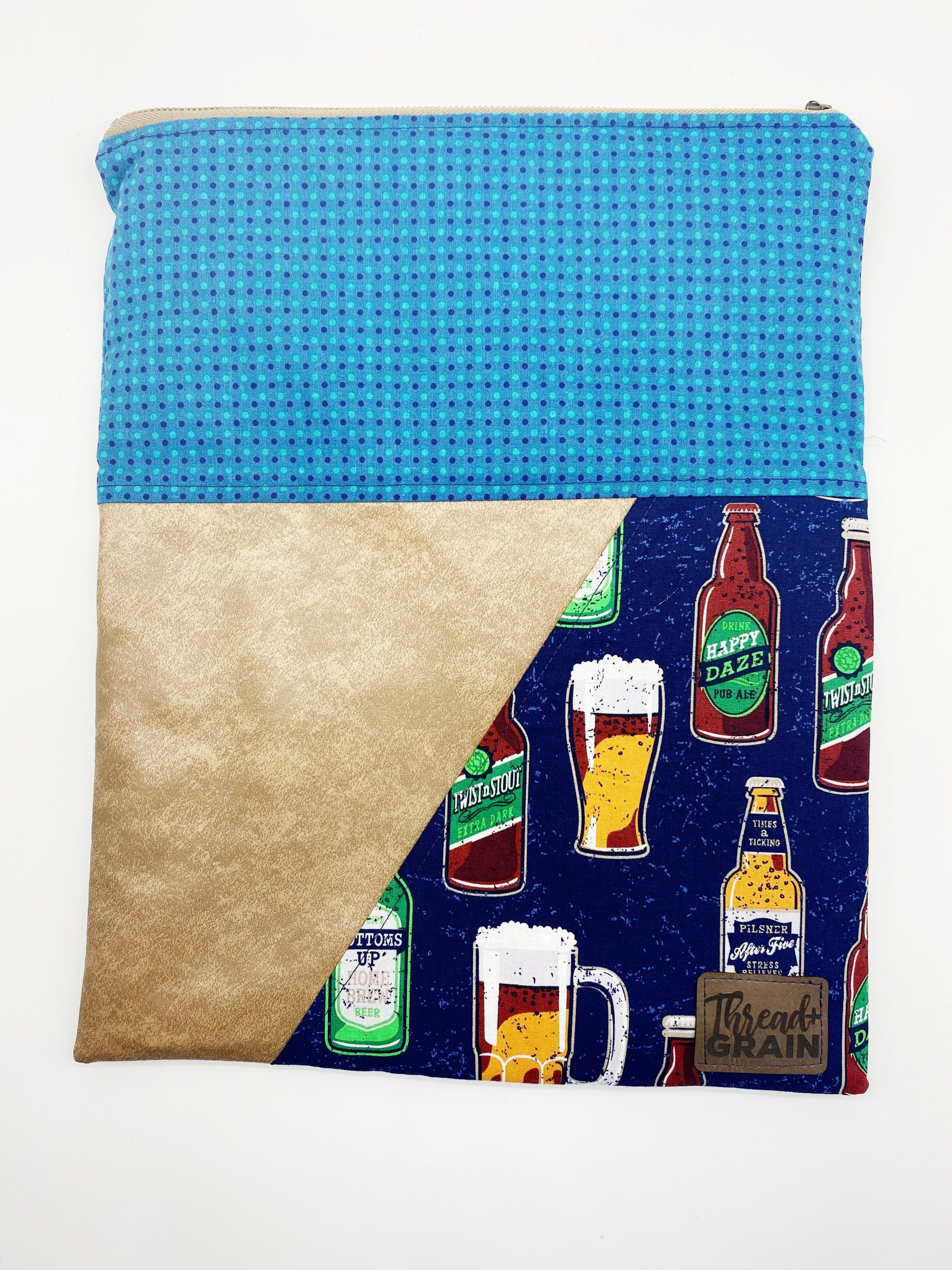 Evelyn Fold-Over Clutch :: Craft Brews + Polka Dots