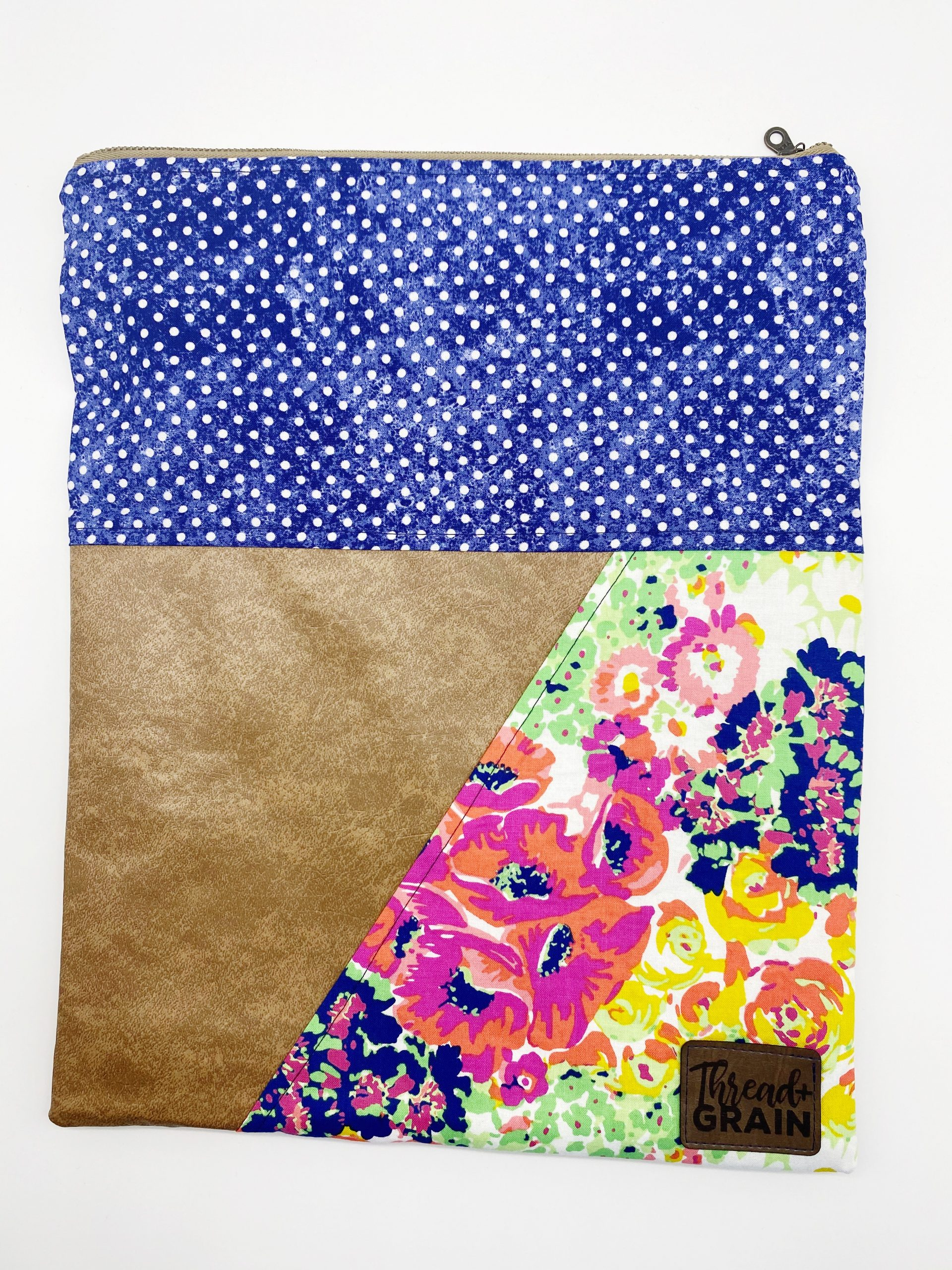 Evelyn Fold-Over Clutch :: Neon Florals + Polka Dots
