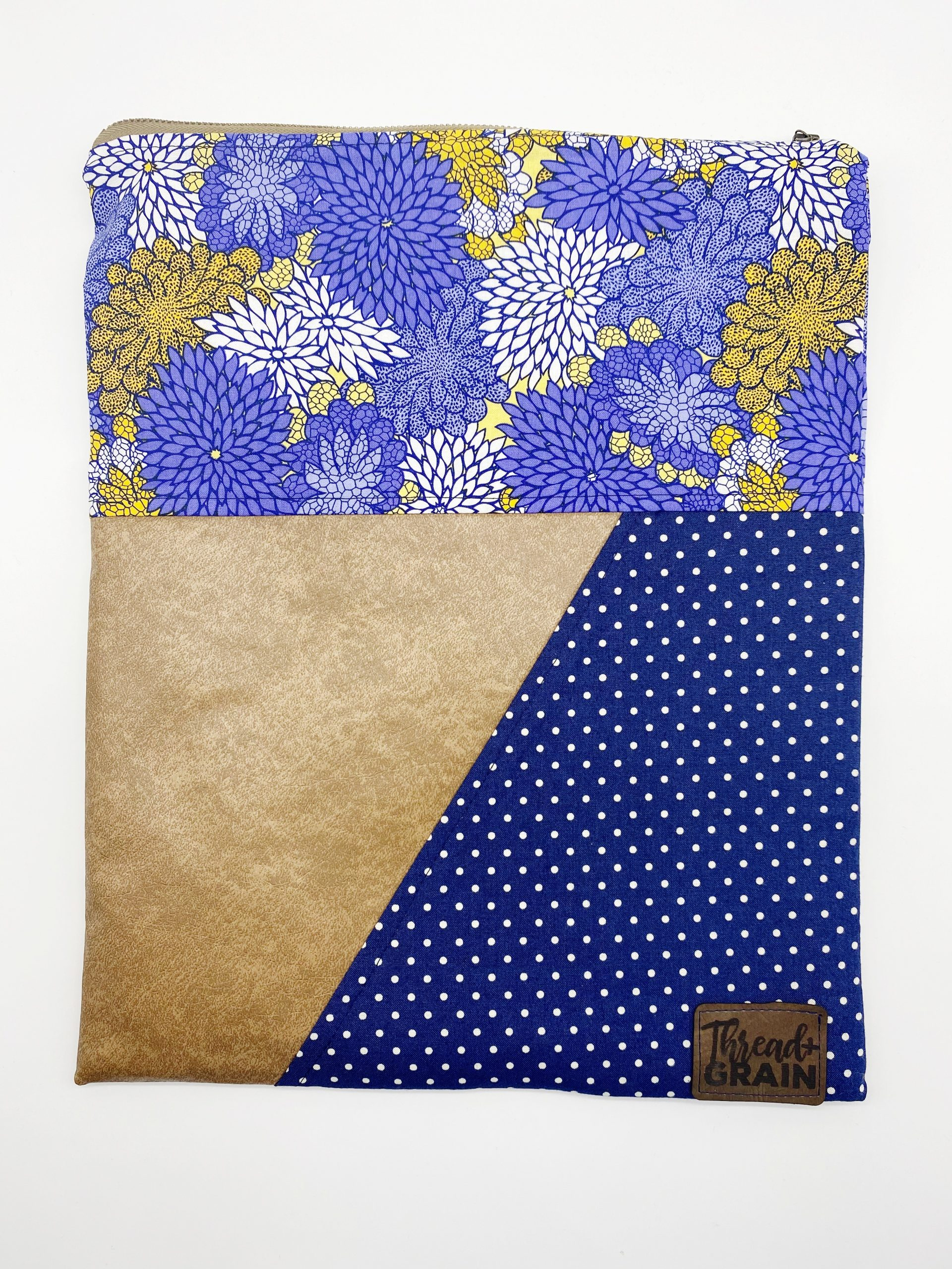 Evelyn Fold-Over Clutch :: Blue + Gold