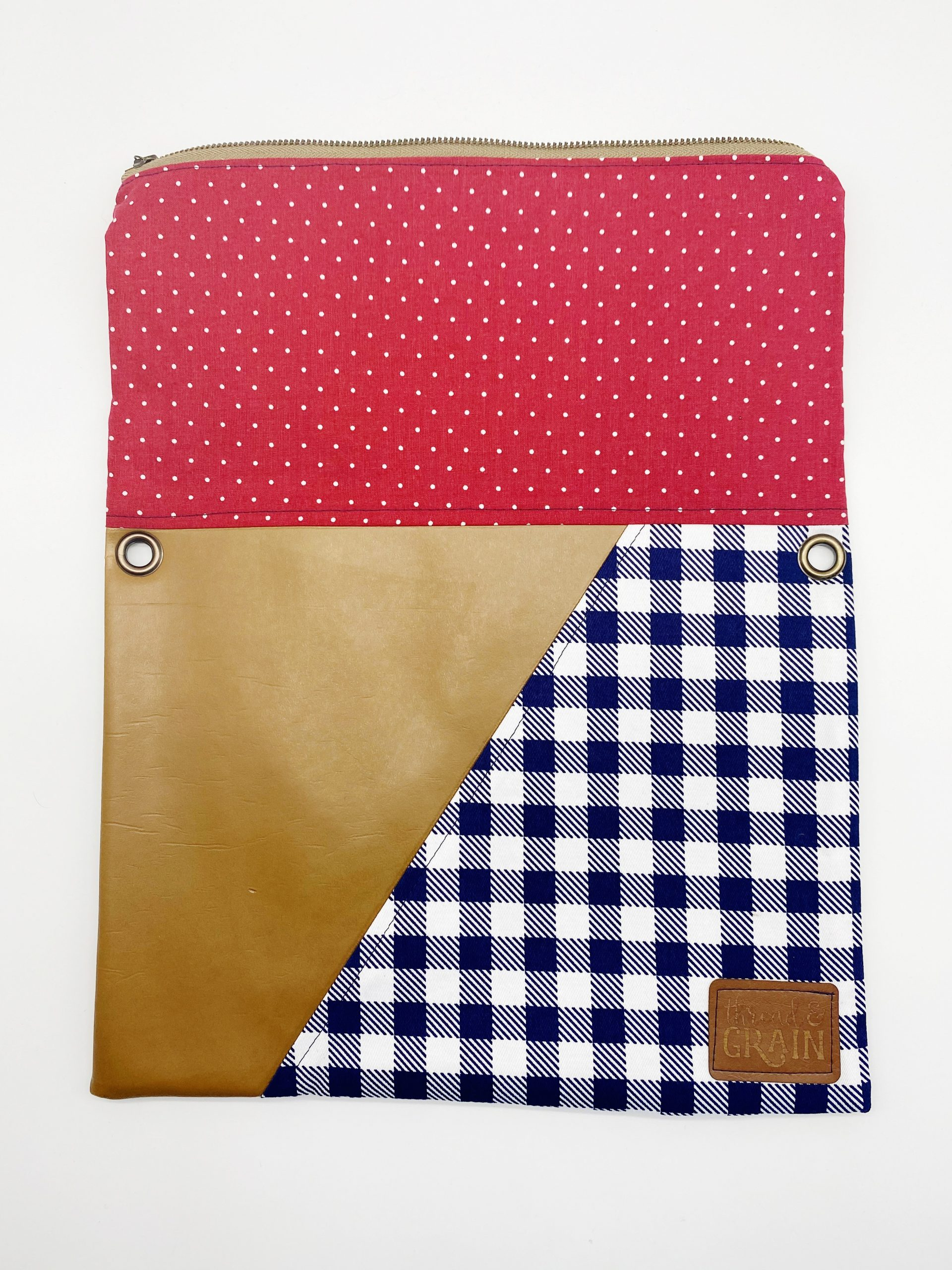 Evelyn Fold-Over Clutch :: Red, White + Blue Polka Dots